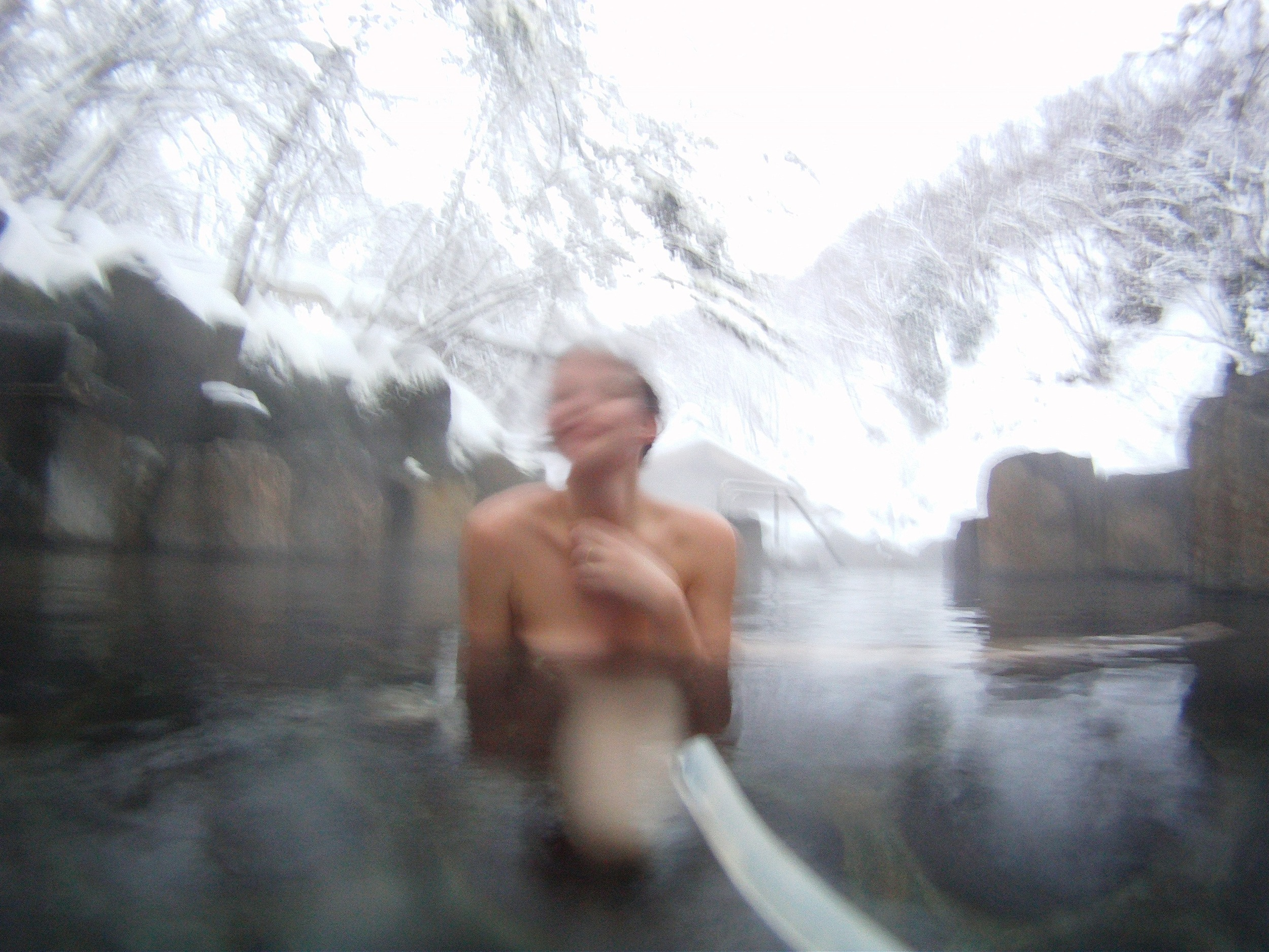 me soaking in the healing waters at Takaragawa Onsen in Japan.