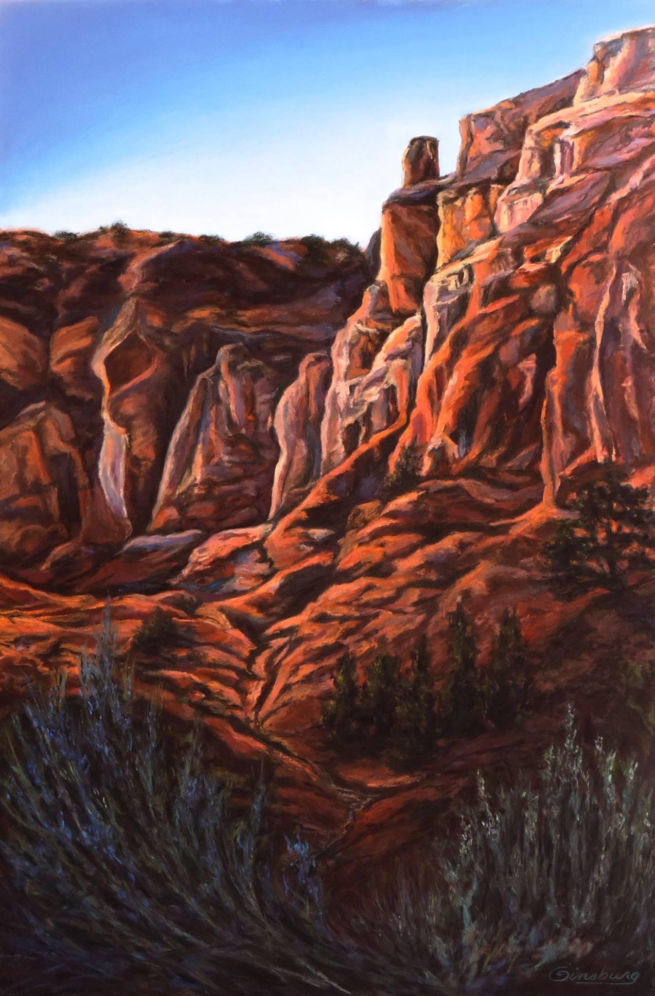 """""""GHOST RANCH GRANDEUR""""  Ghost Ranch, NM  24 x 36  Pastel Cheri GInsburg ©"""