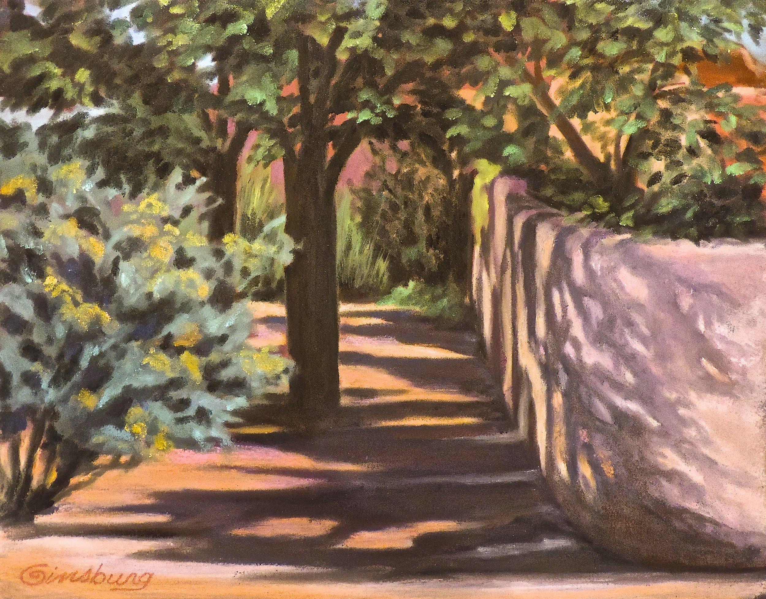 """""""AFTERNOON SHADOWS AT LAMY""""  Pan Pastel® Cheri GInsburg ©"""
