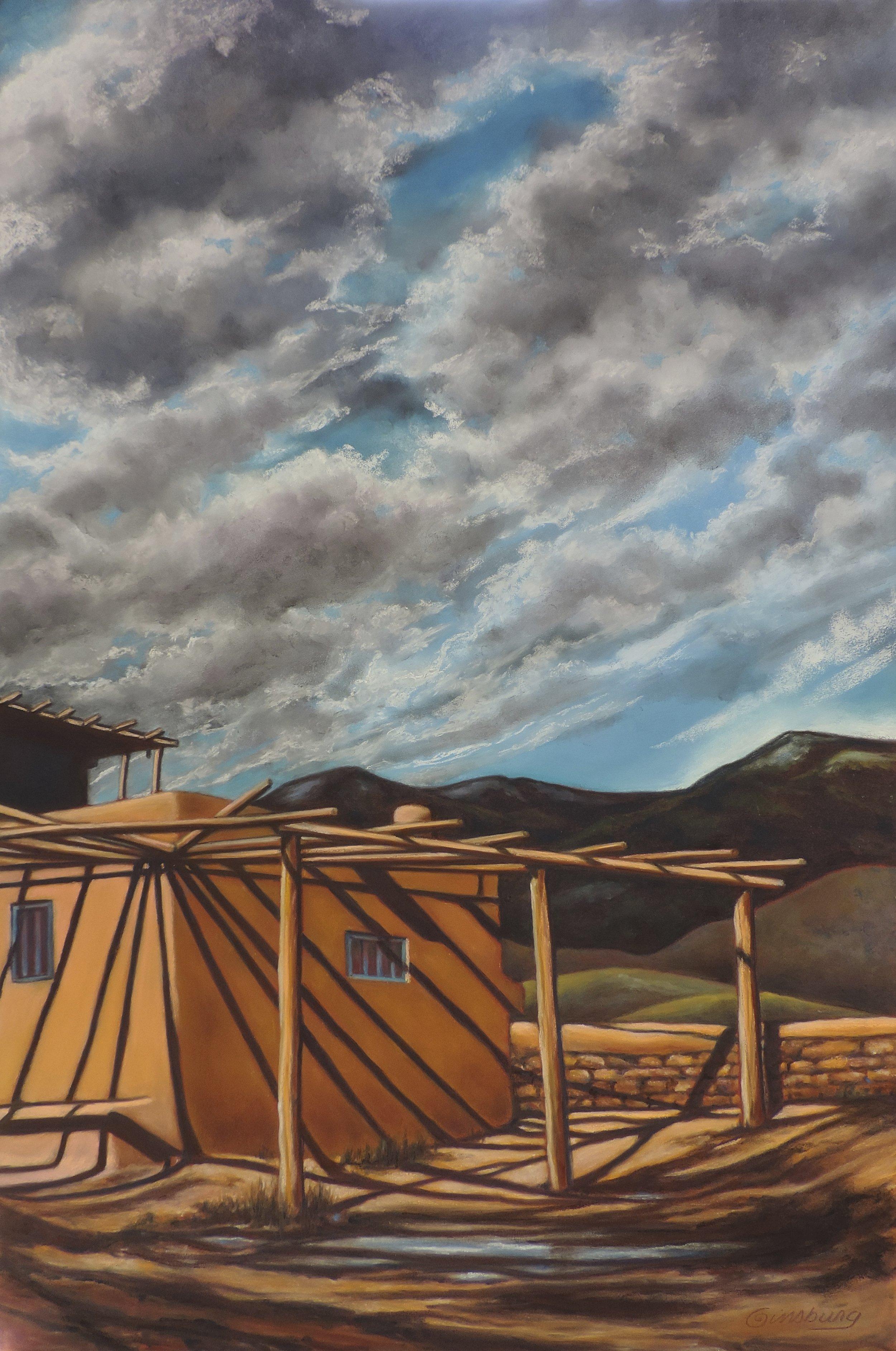 """TAOS PUEBLO HOME"", TAOS, NEW MEXICO  Pan Pastel® Cheri GInsburg ©"