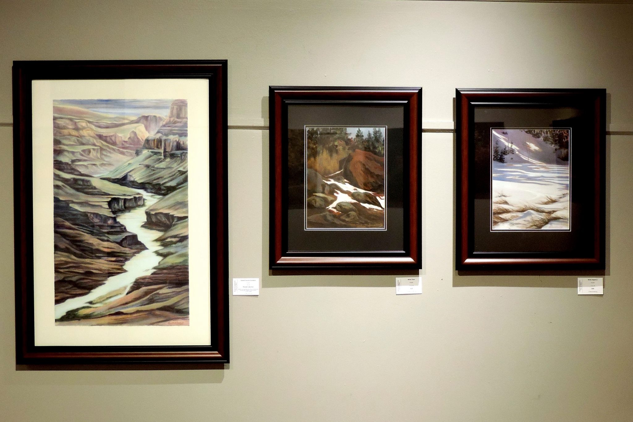 """""""Grand Canyon GRANDEUR"""", """"WINTER THAW"""", AND """"WINTER ELEGANCE""""  Beautiful hung together... Cheri GInsburg ©"""