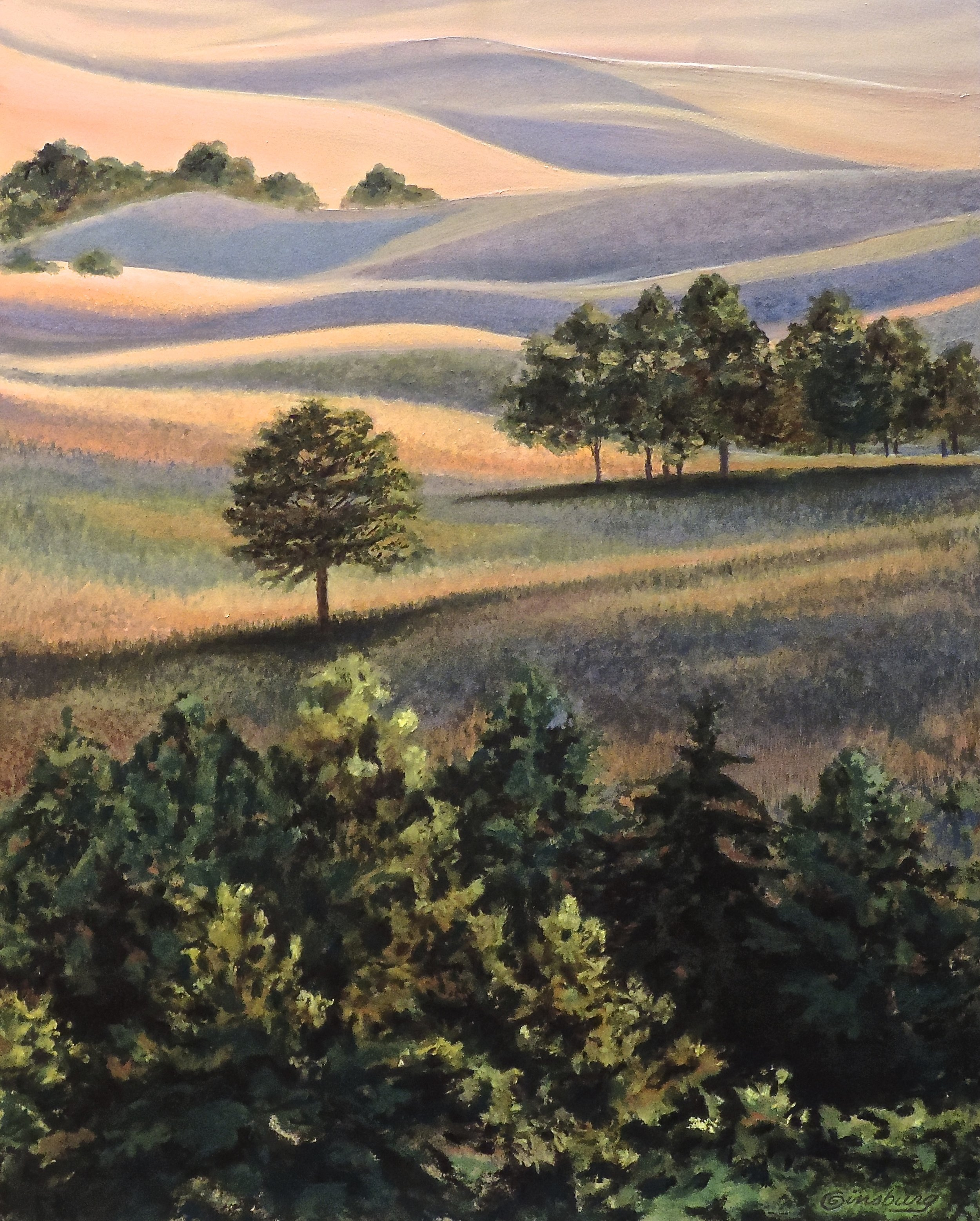 """SANDHILLS SOLITUDE"", HALSEY NATIONAL FOREST, HALSEY, NEBRASKA  Pastel Cheri GInsburg ©"