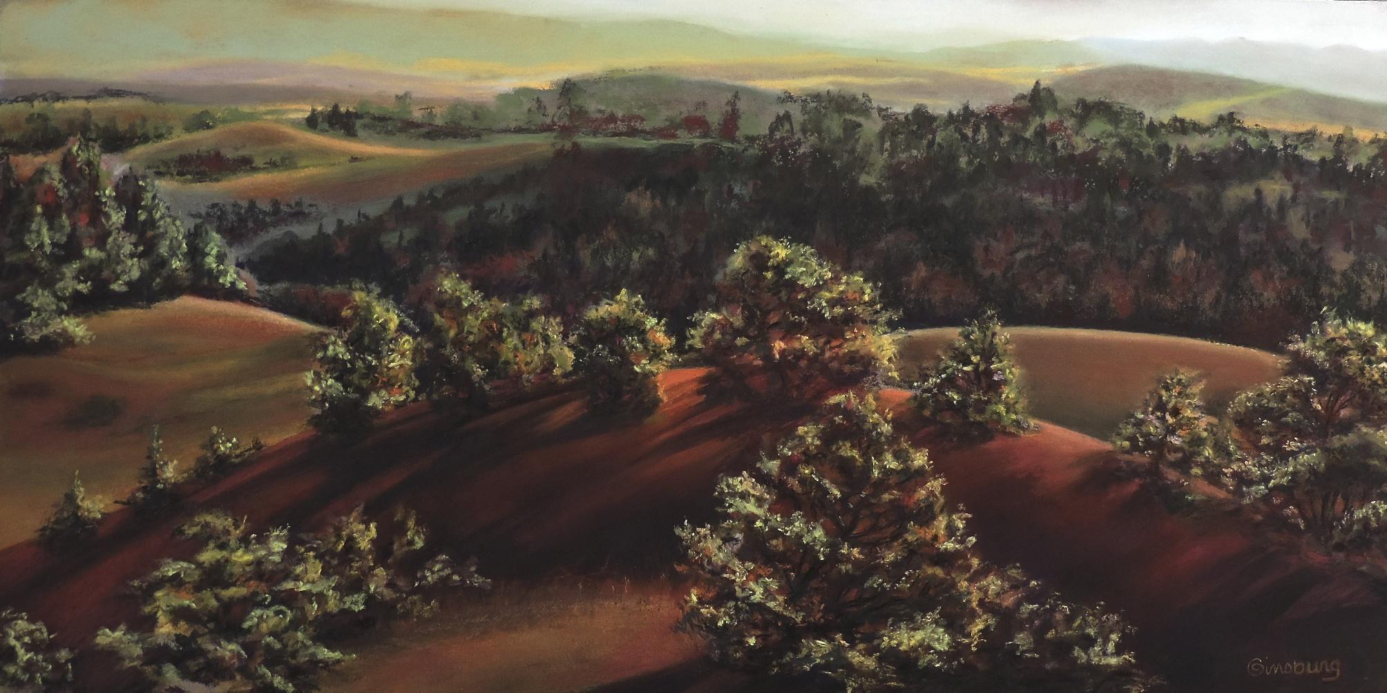 """SANDHILLS SYMPHONY"", HALSEY NATIONAL FOREST, HALSEY, NEBRASKA  Pastel  Cheri GInsburg ©"