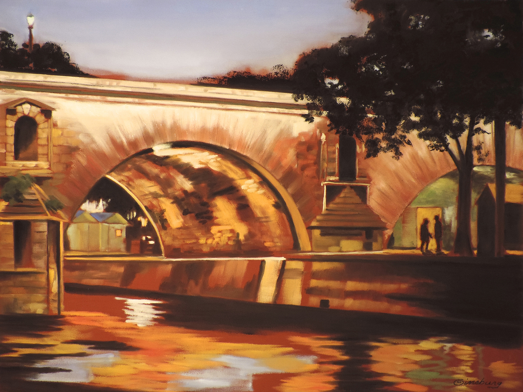 """SECRET RENDEZVOUS"", PONT SAINT MARIE, PARIS, FRANCE  Pastel Cheri GInsburg ©"