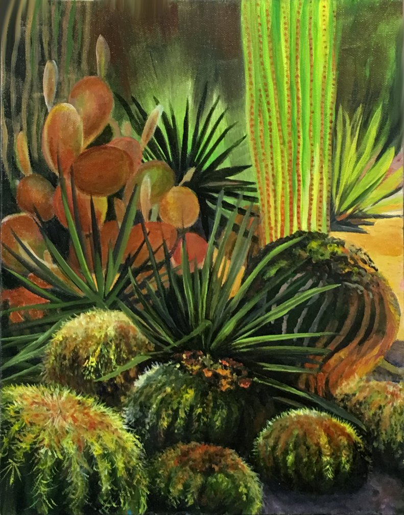 Untitled Plein Air, completed en studio  Tucson, AZ  11 x 14  Oil on canvas  Cheri GInsburg ©