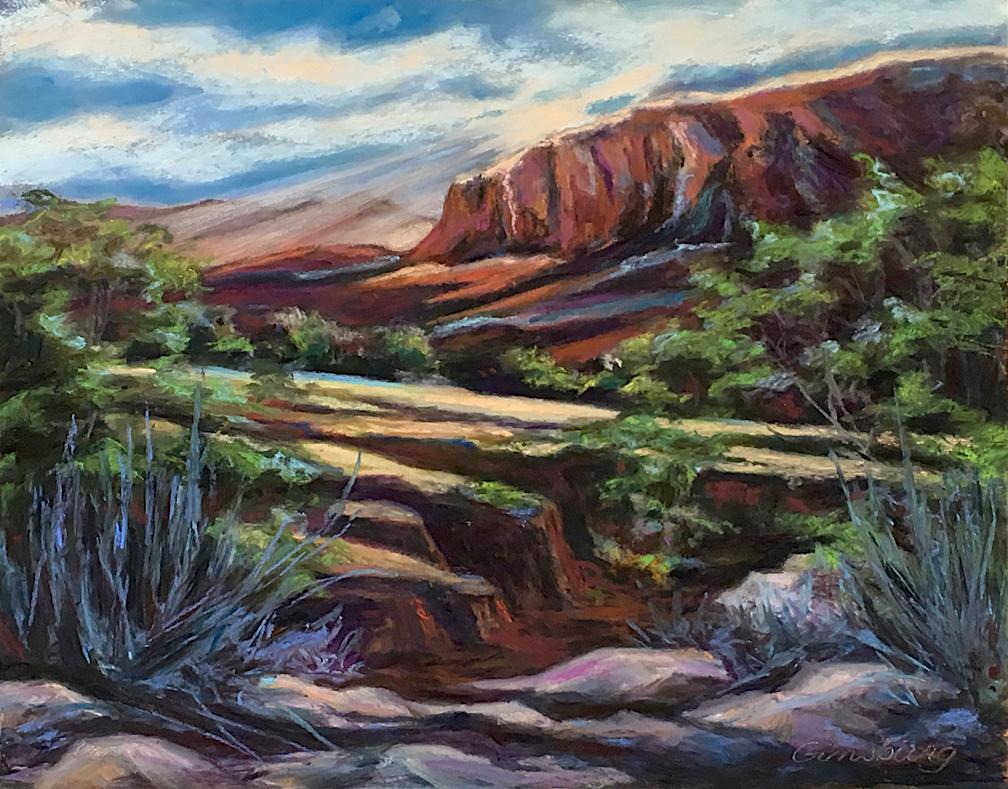Untitled Plein Air  Ghost Ranch, NM  11 x 14  Pastel  Cheri GInsburg ©