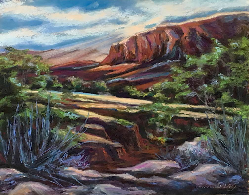 Untitled  Ghost Ranch, NM  Plein Air  11 x 14  Pastel  Cheri GInsburg ©