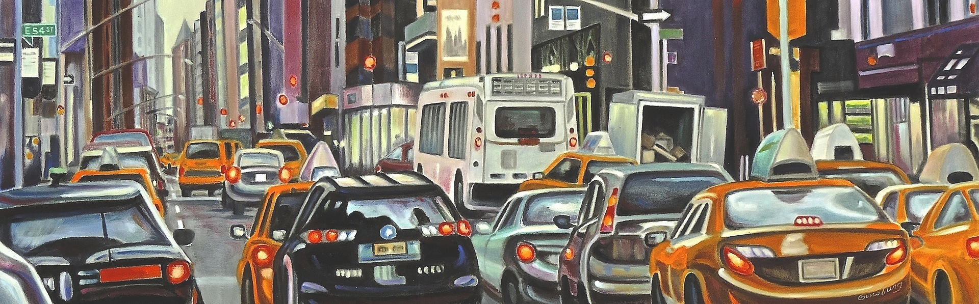"""Morning Commute"" by Cheri Ginsburg©  Displayed by PanPastel® at the International Association of Pastel Societies Biennial Convention"