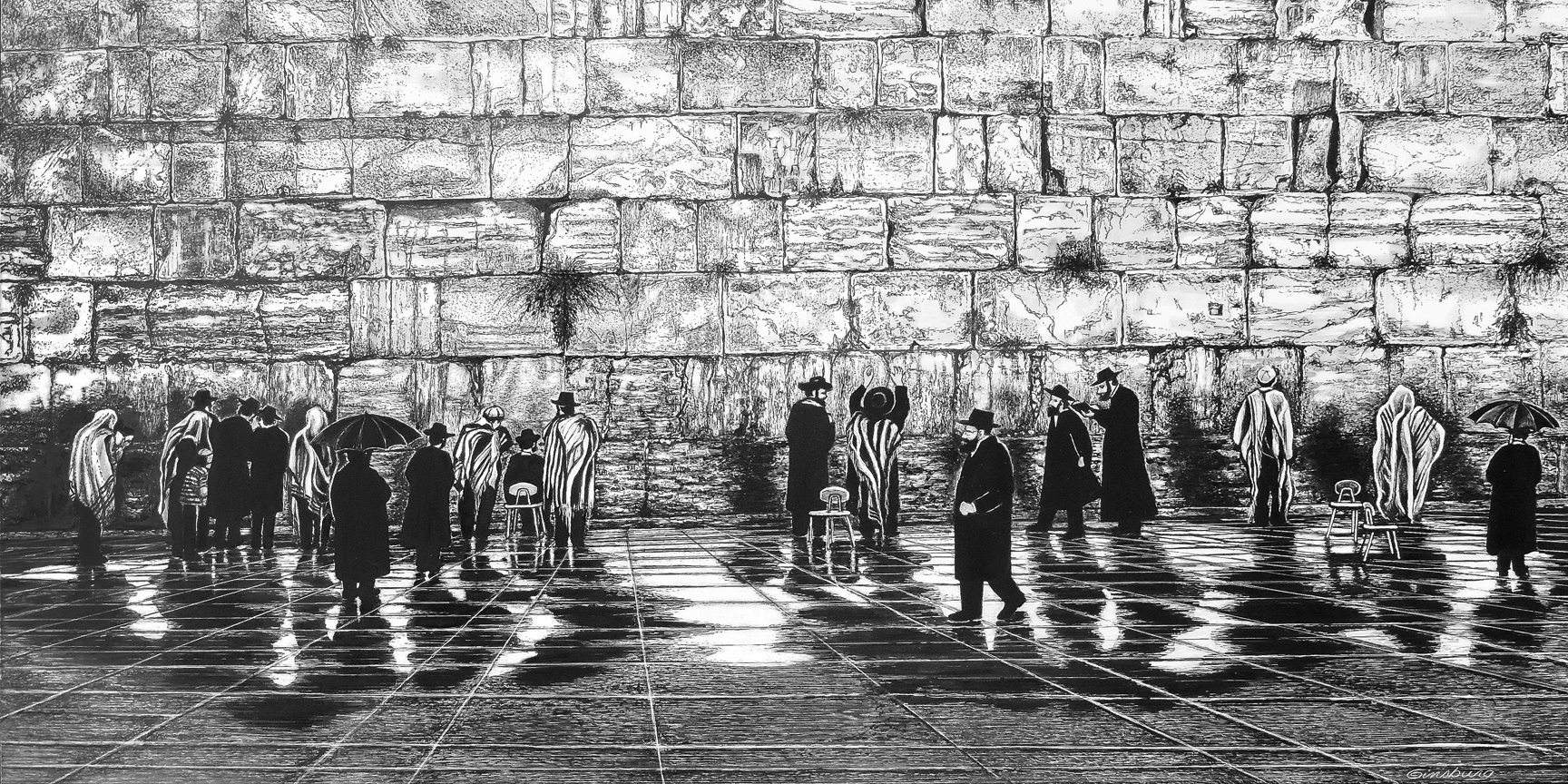 """After The Rain- Jerusalem"" by Cheri Ginsburg©  Omaha Artists' Show"