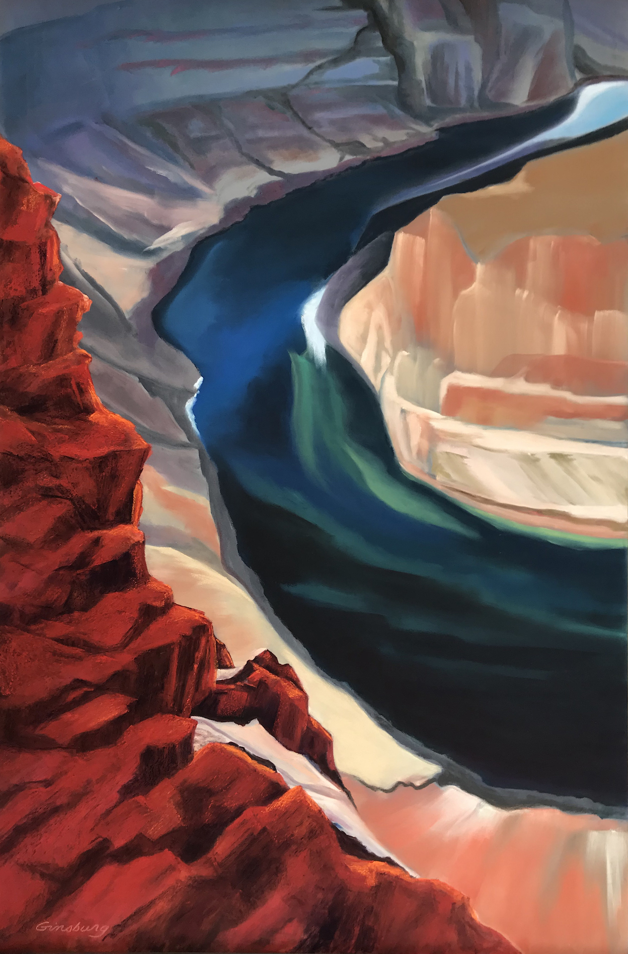 """JEWEL OF THE CANYON""   24 x 36  Private Collection   Limited edition prints available, signed & numbered.   Cheri Ginsburg©"