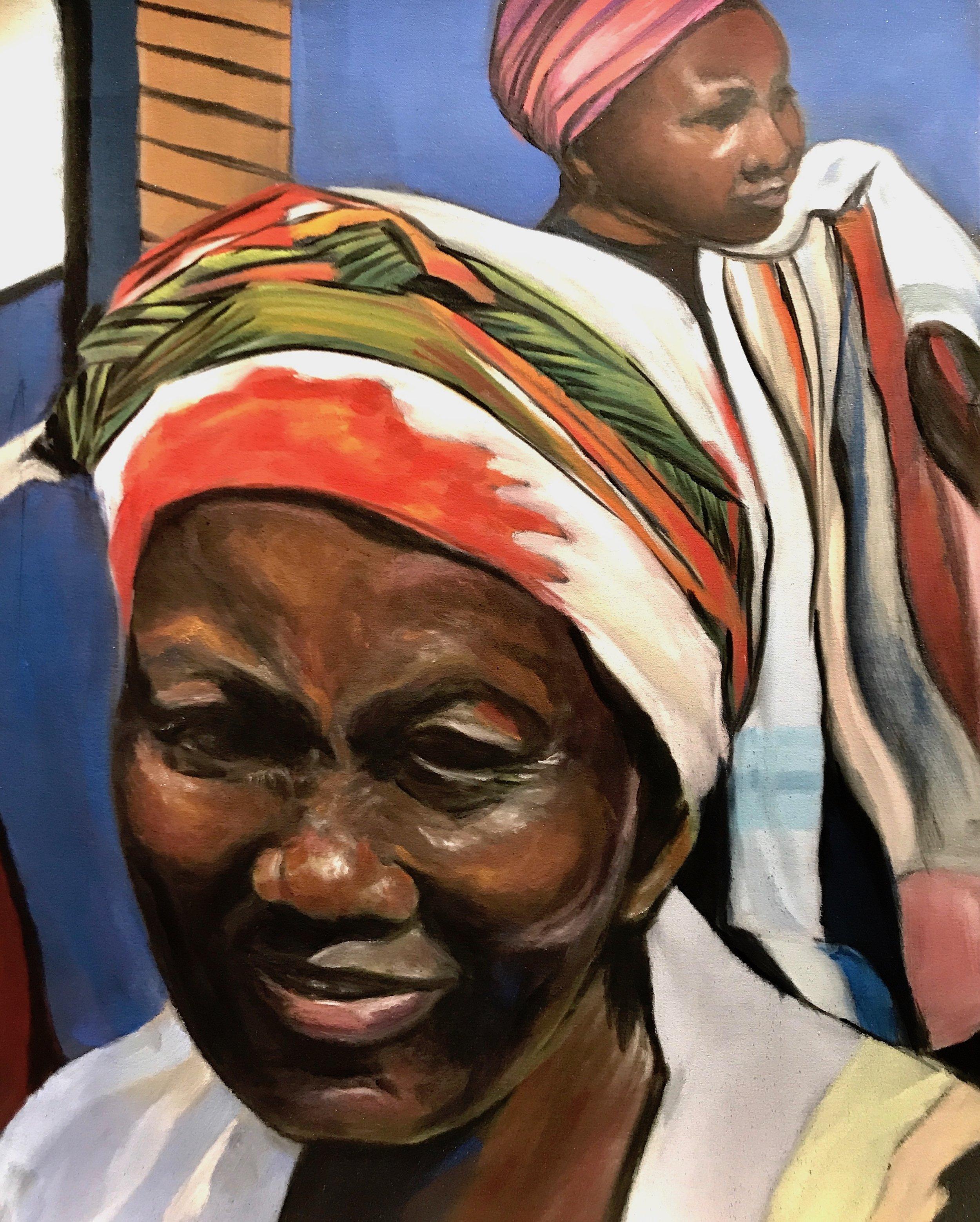 """WOMEN OF ZIMBABWE""  11 X 14  PanPastel on UArt paper  Cheri Ginsburg©  Juried selection 2018 UArt Online Exhibition"