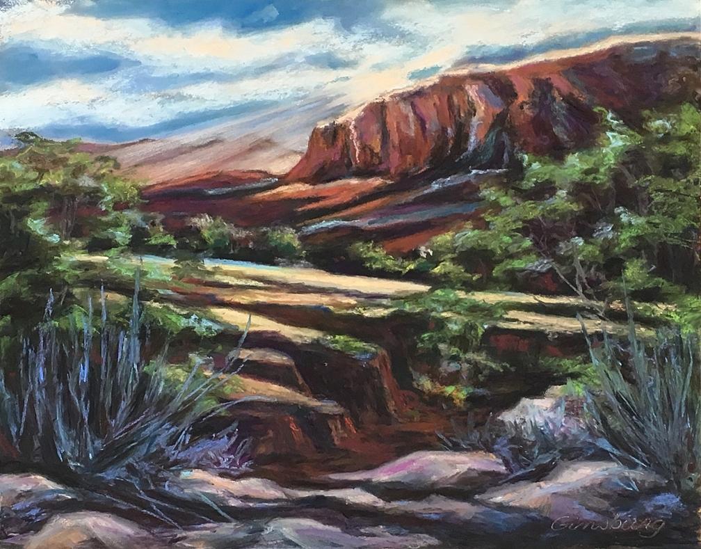 Untitled Plein Air  Ghost Ranch, NM  11 x 14  Cheri Ginsburg©