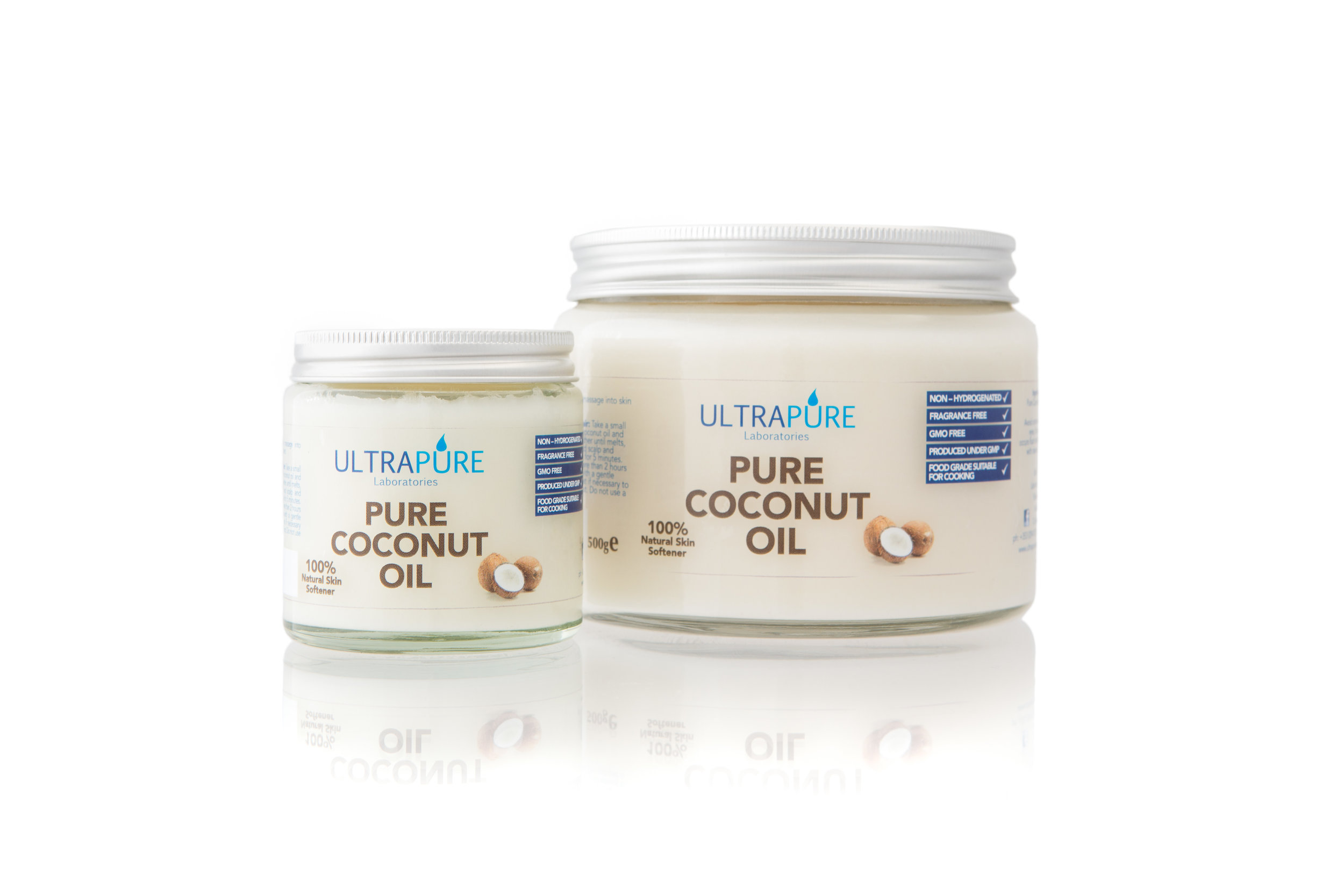 ULTRAPURE Laboratories Coconut Oil is an edible oil extracted from the kernel of mature coconuts.