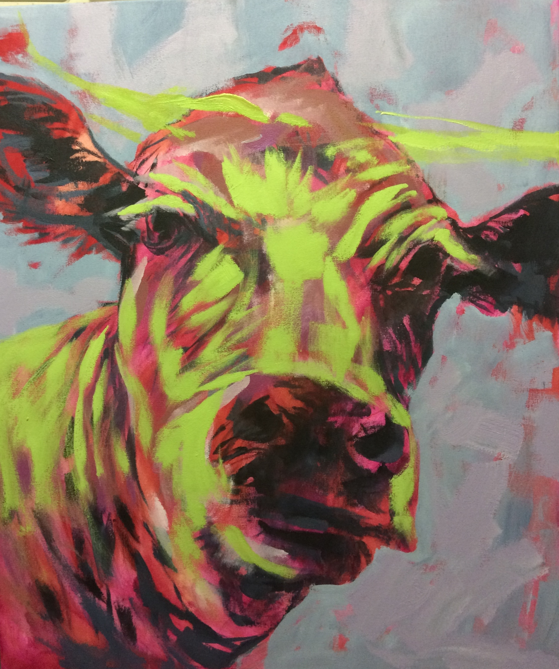 abstract cow in progress