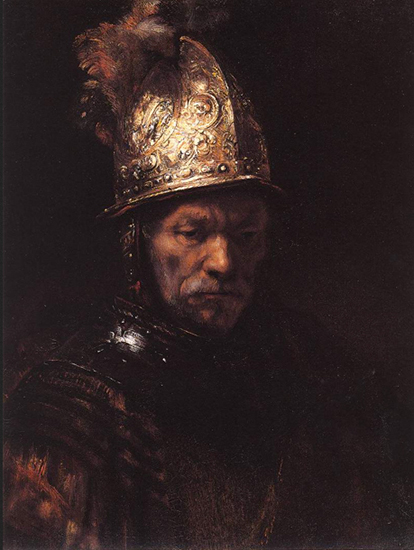 The Man with the Golden Helmet , Rembrandt, 1650, Oil on Canvas