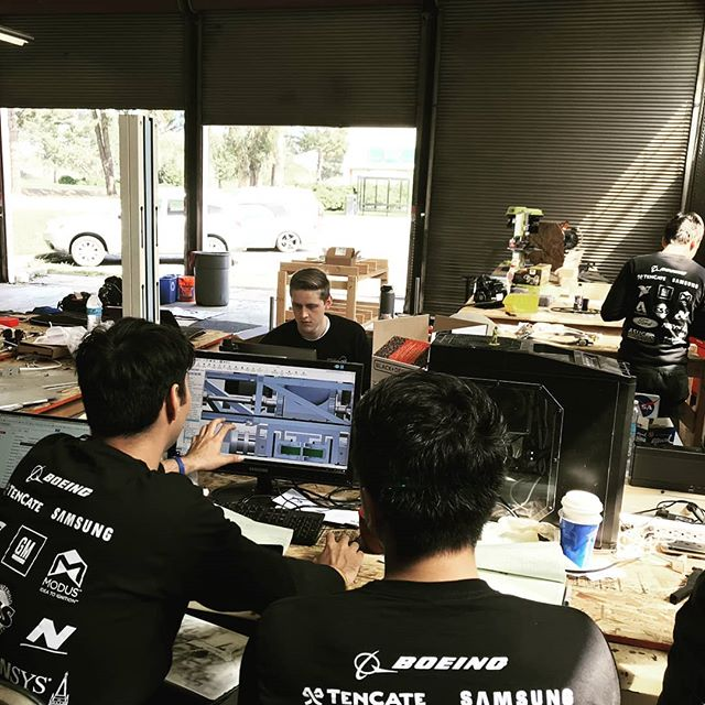 Our work space at the Richmond Field Station might look unorganized, but it's in a state of controlled chaos. When you're working on a pneumatic braking system and a carbon fiber layup at the same time, it's hard to not be messy. #berkeleyhyperloop #hyperloop #berkeley #ucberkeley