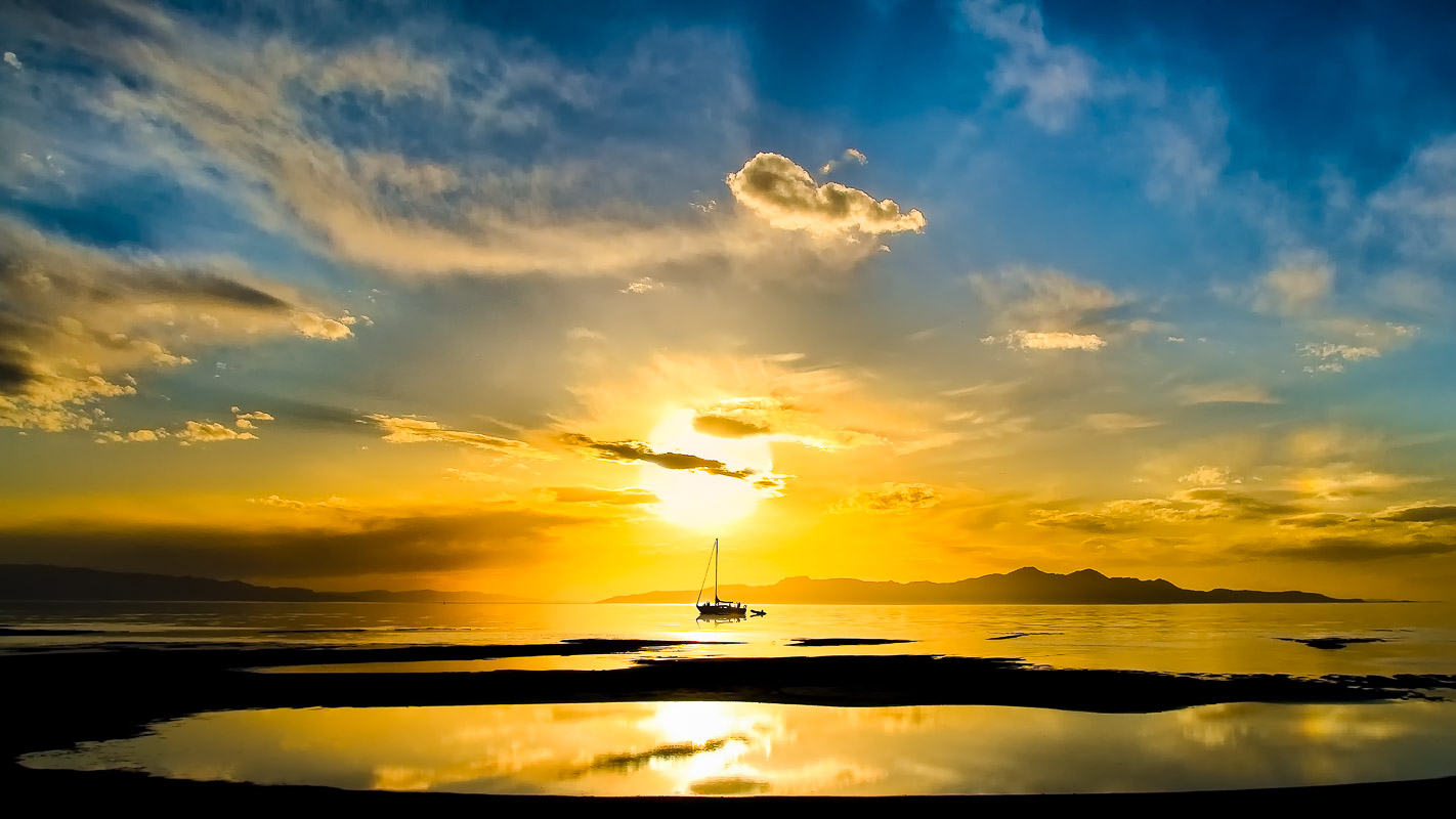 Great Salt Lake Sunset-.JPG