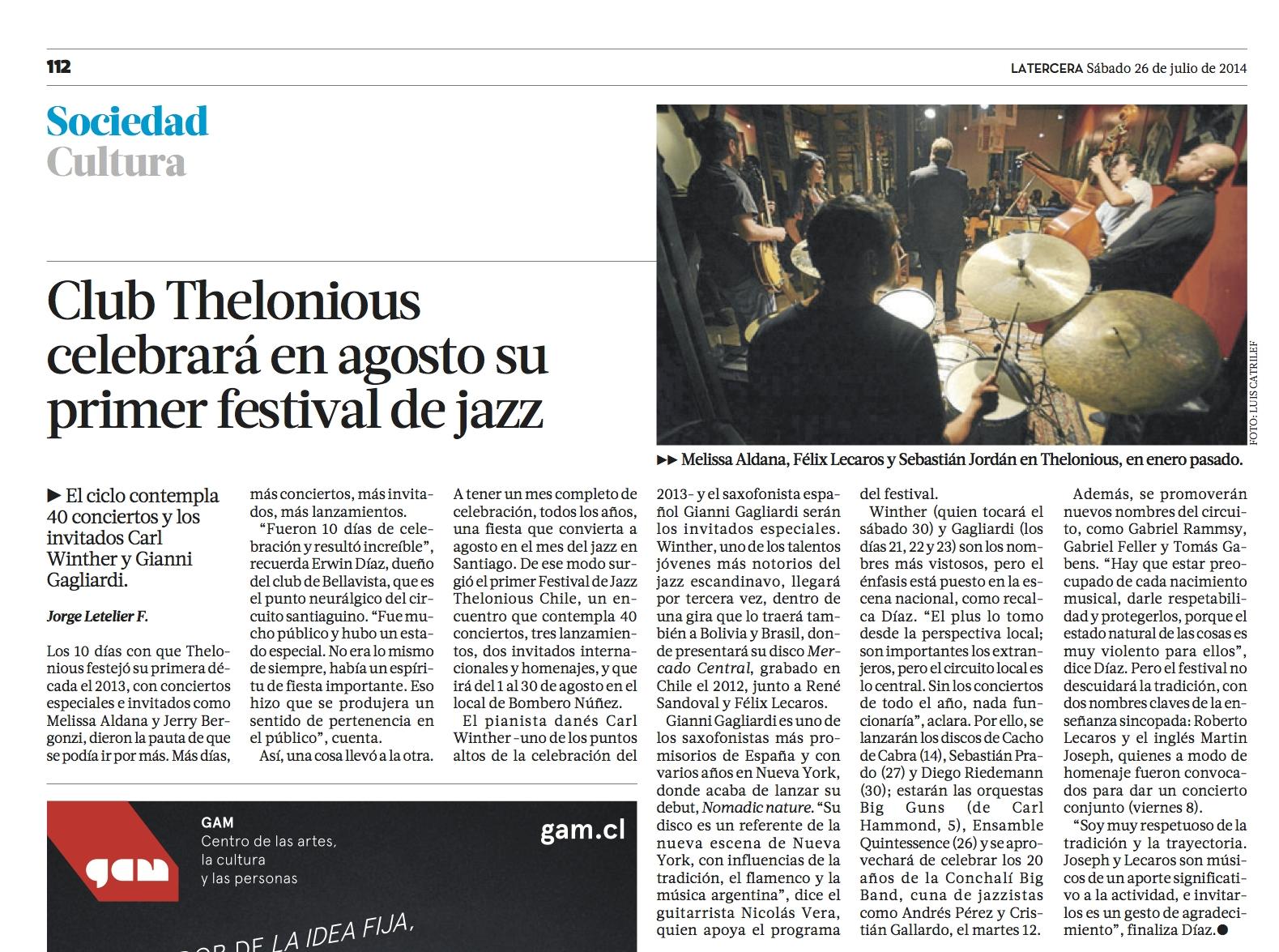 La Tercera 26julio2014.jpg