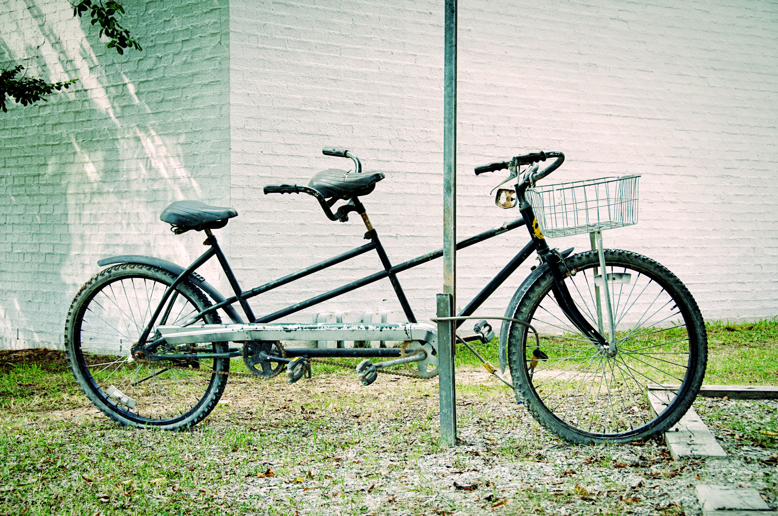 tandem bicycle in Carrboro, NC