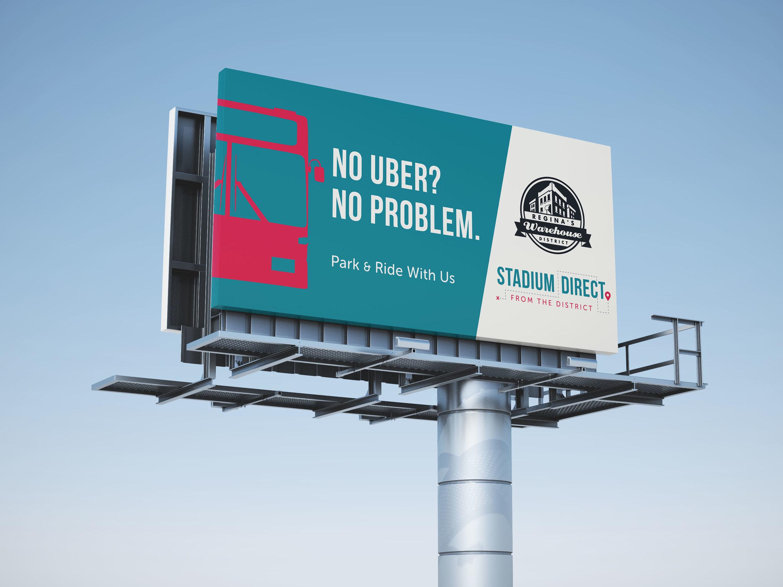 Graphic Design - Billboard Design - Stadium Direct - Makewell Creative Co - Regina, SK