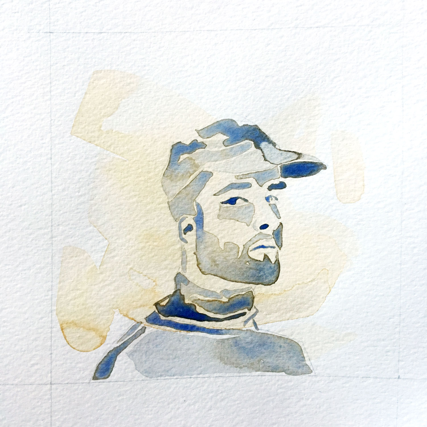 all we've known / watercolor portrait hat 3/3