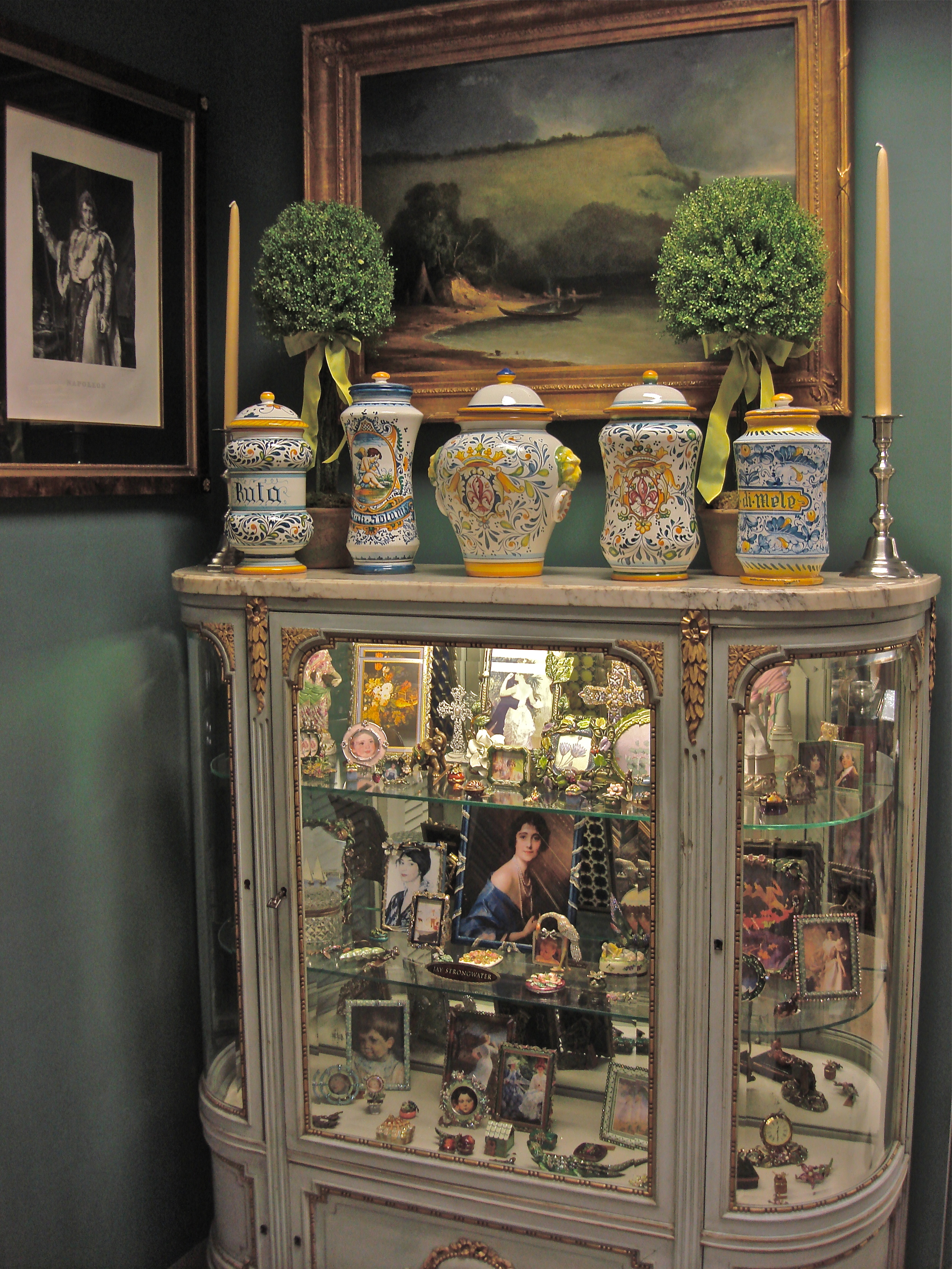 Hand Painted Italian Miolica Vases