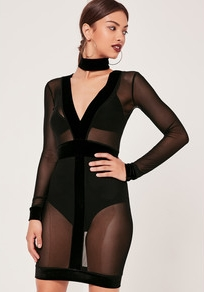 velve/mesh dress: MISSGUIDED.COM ($33)