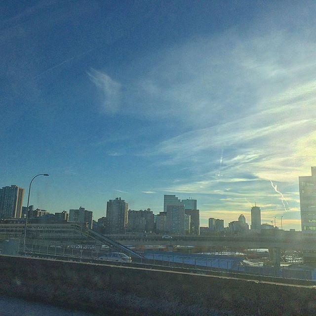 Coming into Boston on the Zakim Bridge.