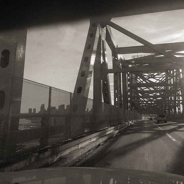 Boston Skyline from Saugus River Bridge.