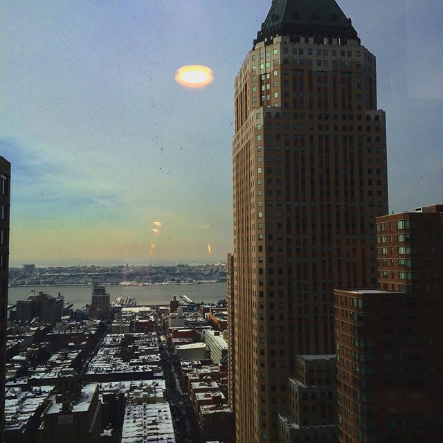 Our view from the 34th floor of the Crowne Plaza.