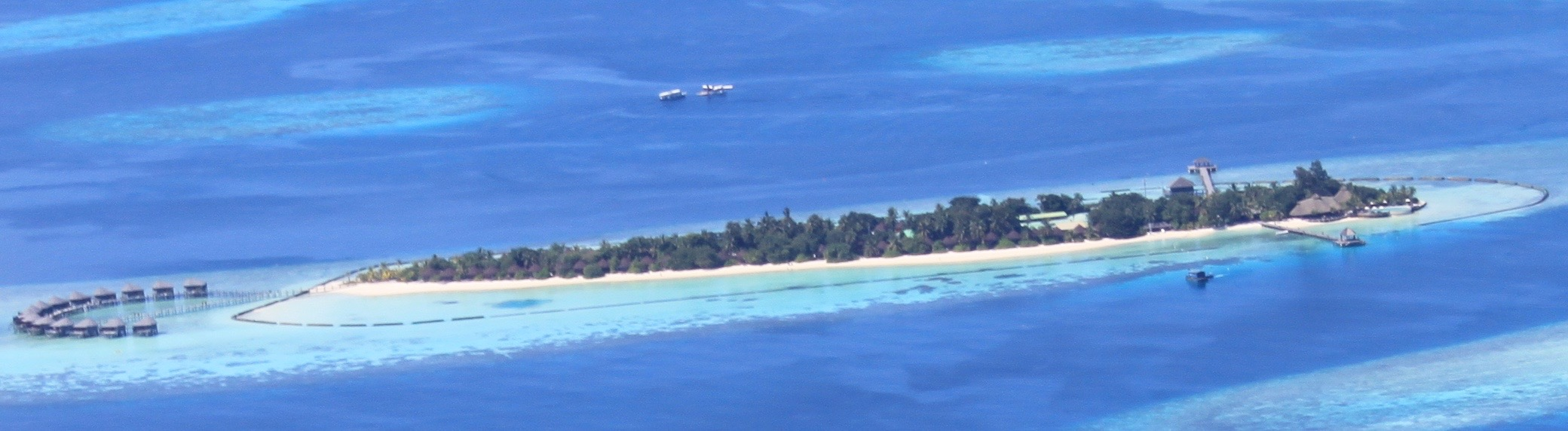 Komandoo Resort & Island from the seaplane