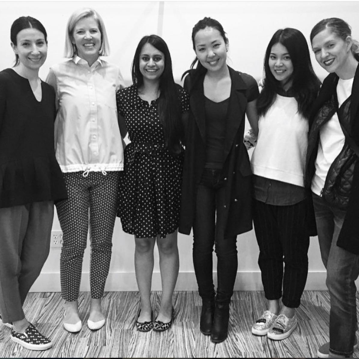 the 2015 Lela Rose design team:  Leonora, Lela, me, Demi, Reni, Felicia (from left to right).