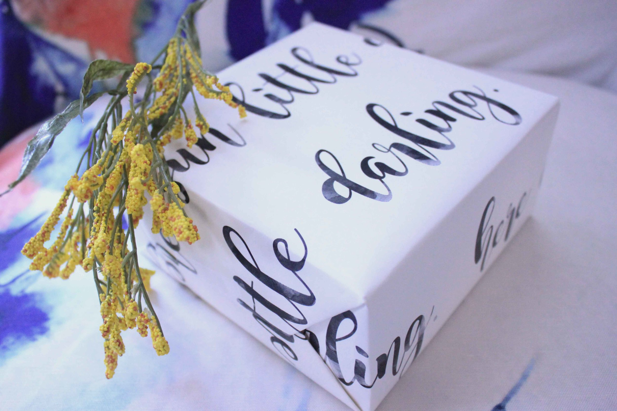 lyrical gift wrap diy hand lettered beatles here comes the sun charisma shah