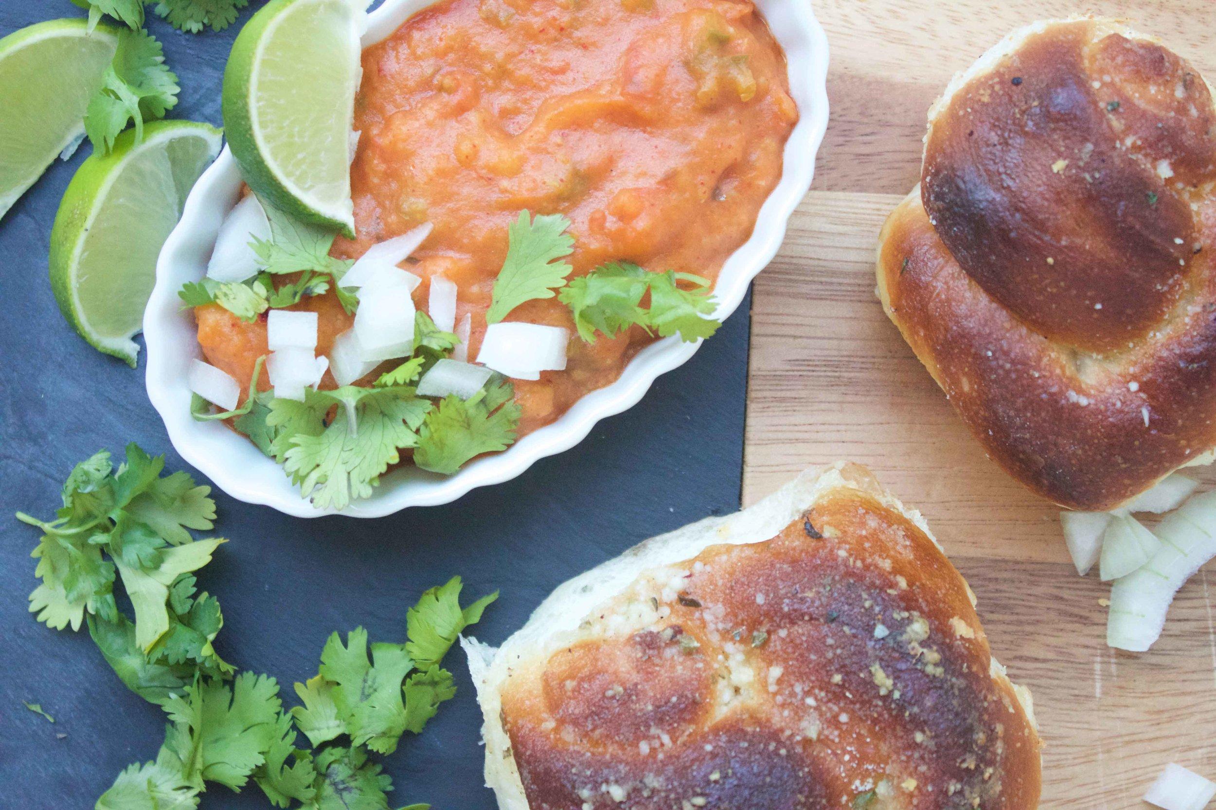 mumbai pav bhaji recipe charisma shah vegetarian vegan