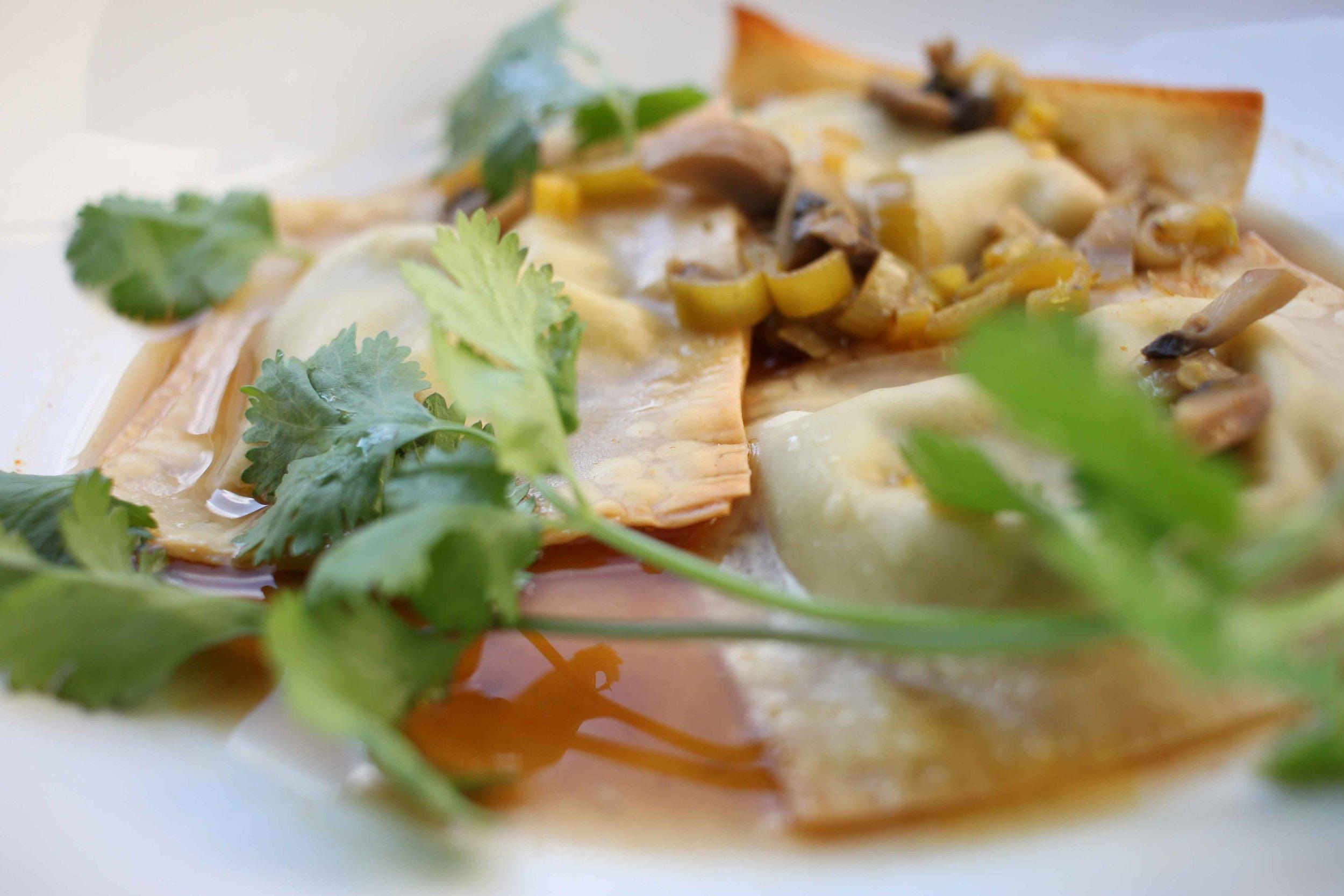 vegetarian herbed edamame dumplings recipe charisma shah