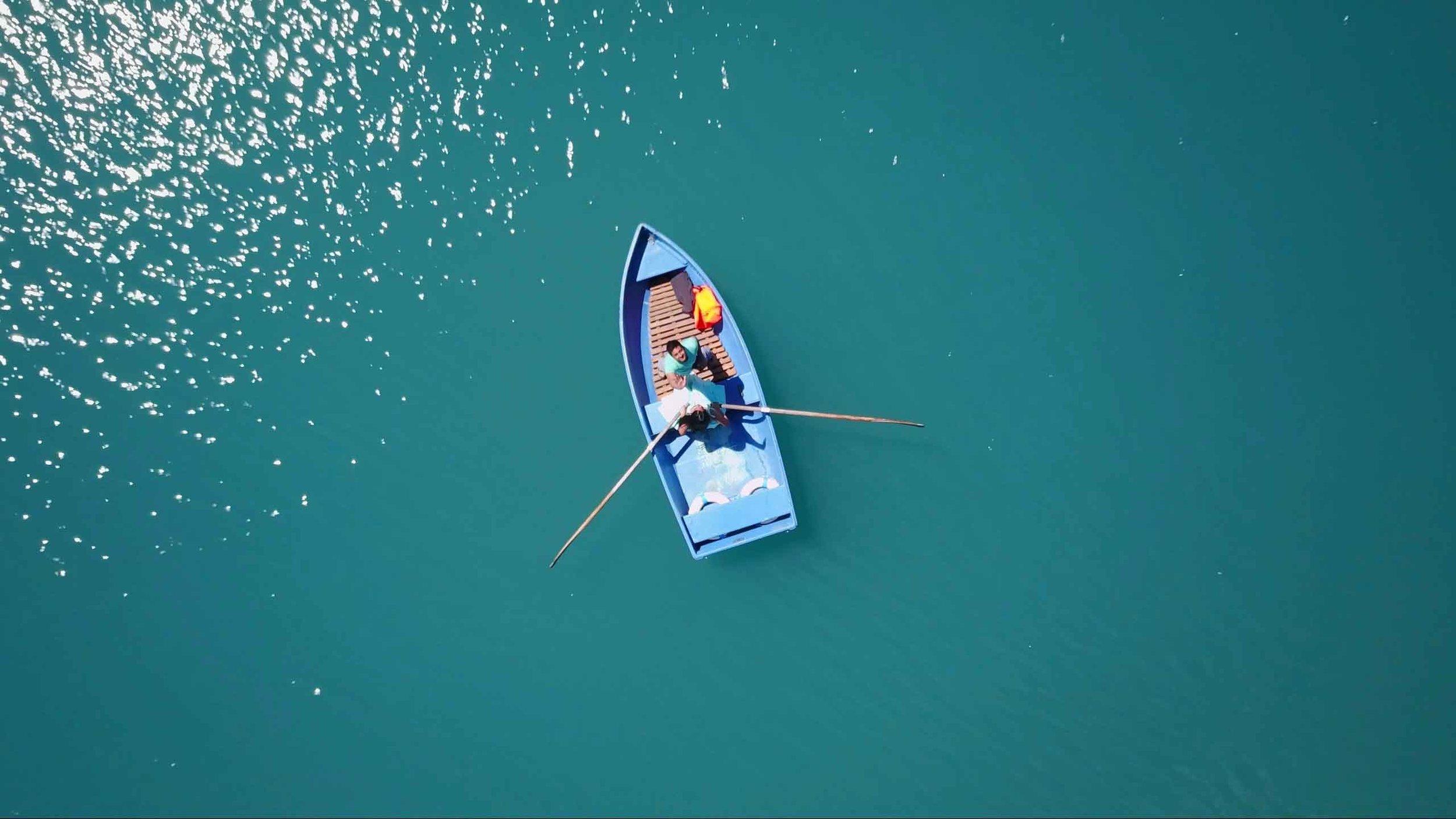 just rowing away on Lake Oeschinesee
