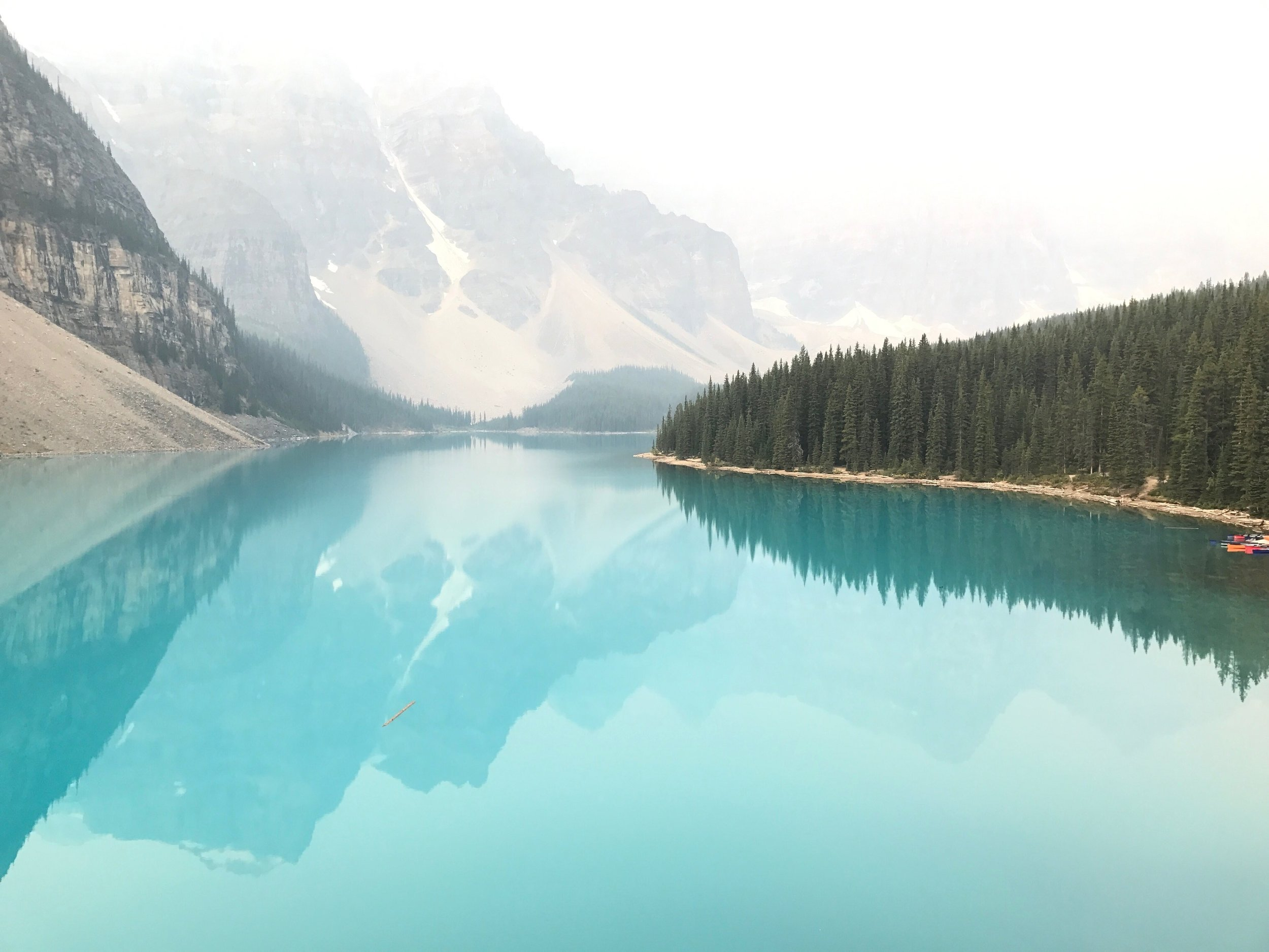 Lake Morraine at Sunrise Banff National Park Canada Tour Guide Itinerary Charisma Shah