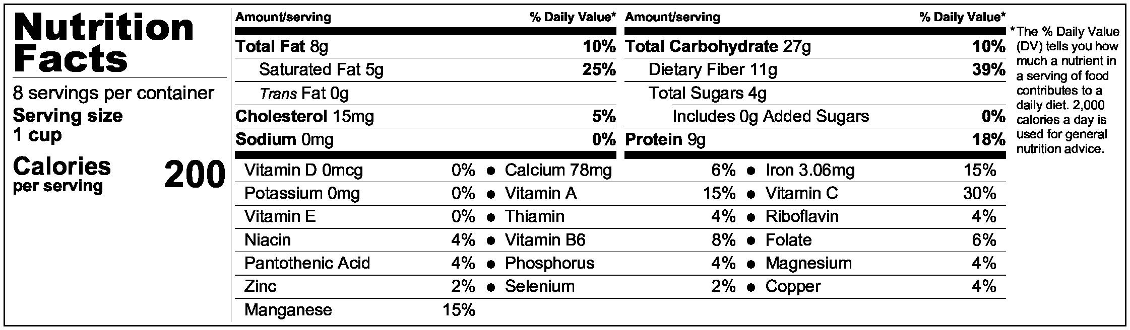 Dhanshak (persian Indian vegetable & lentil soup recipe) nutrition information
