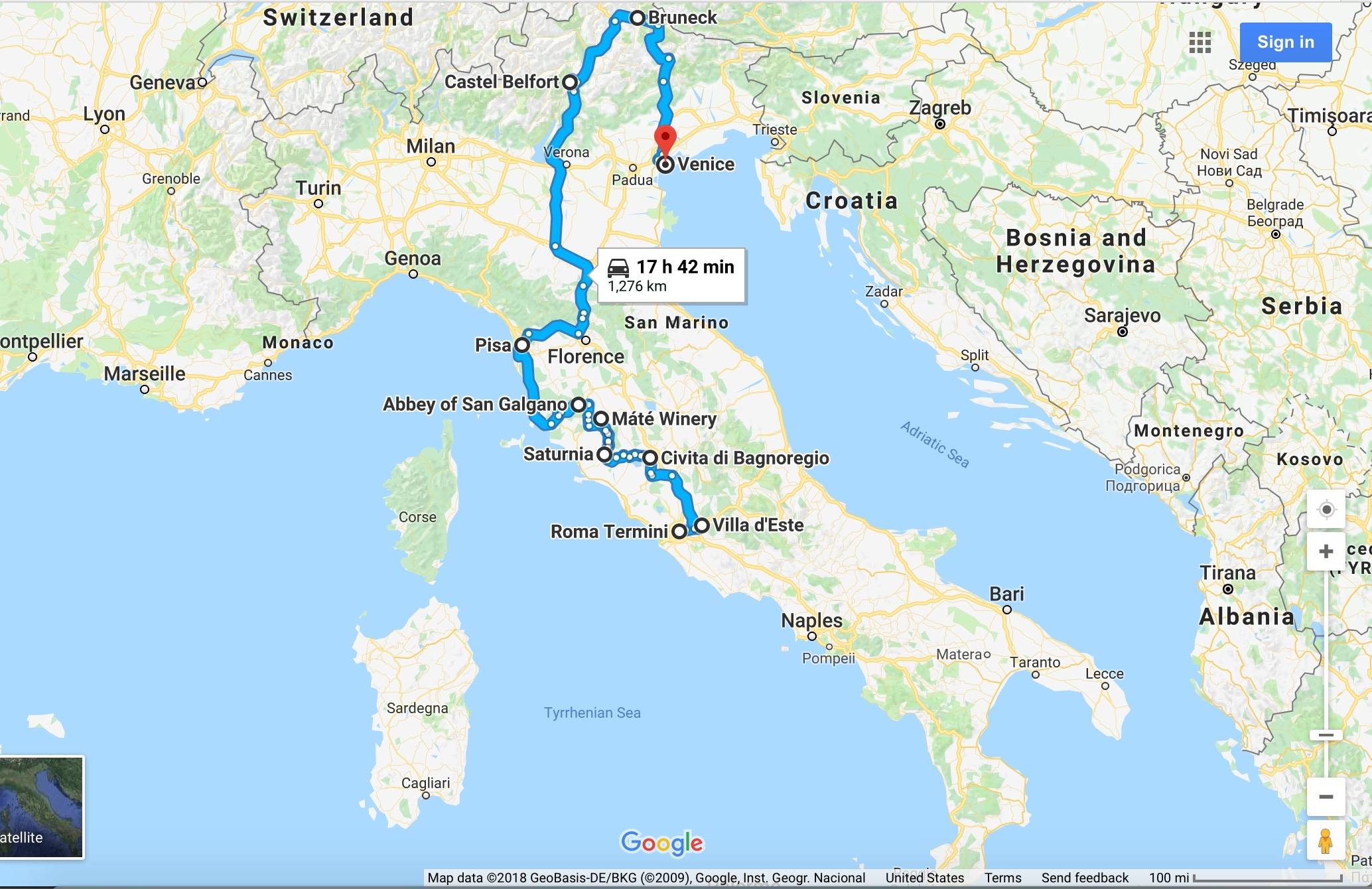 Our 10 day road trip through Italy