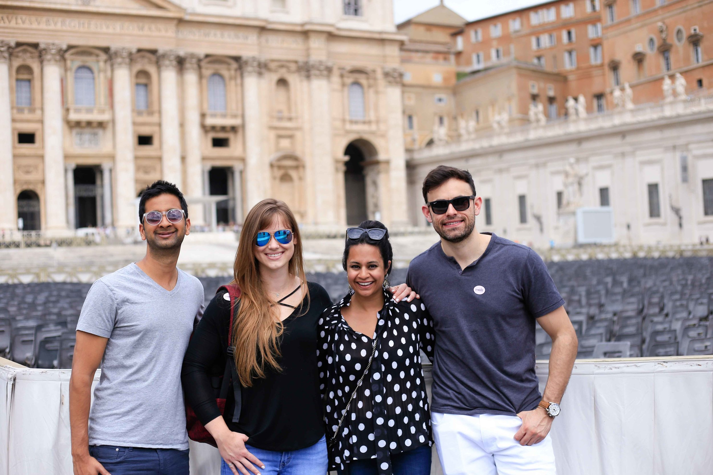 outside the Vatican with my favorite humans