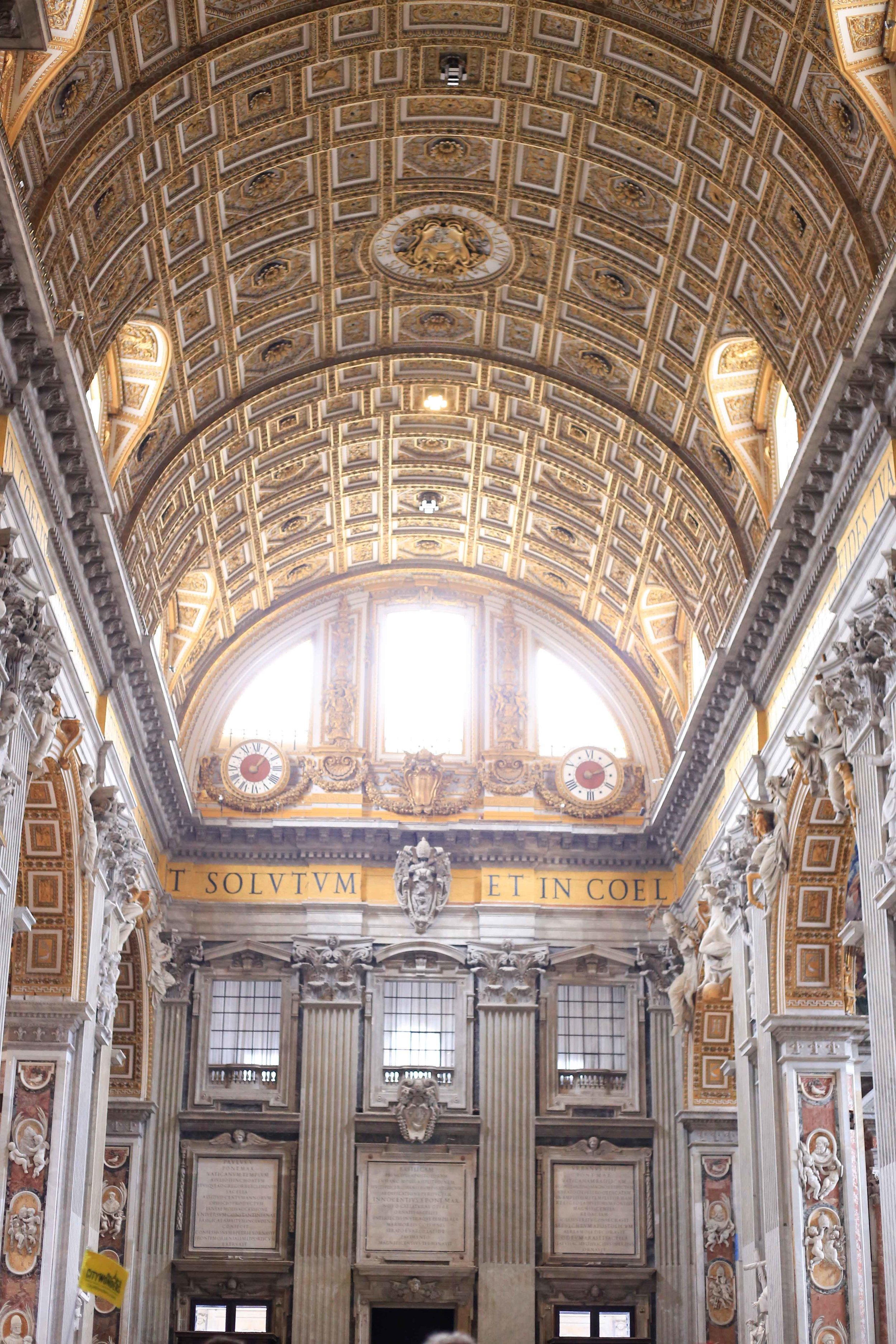 I think a part of my soul was left behind here at St. Peters Basilica. I mean just look, gah. Its so magnificent.