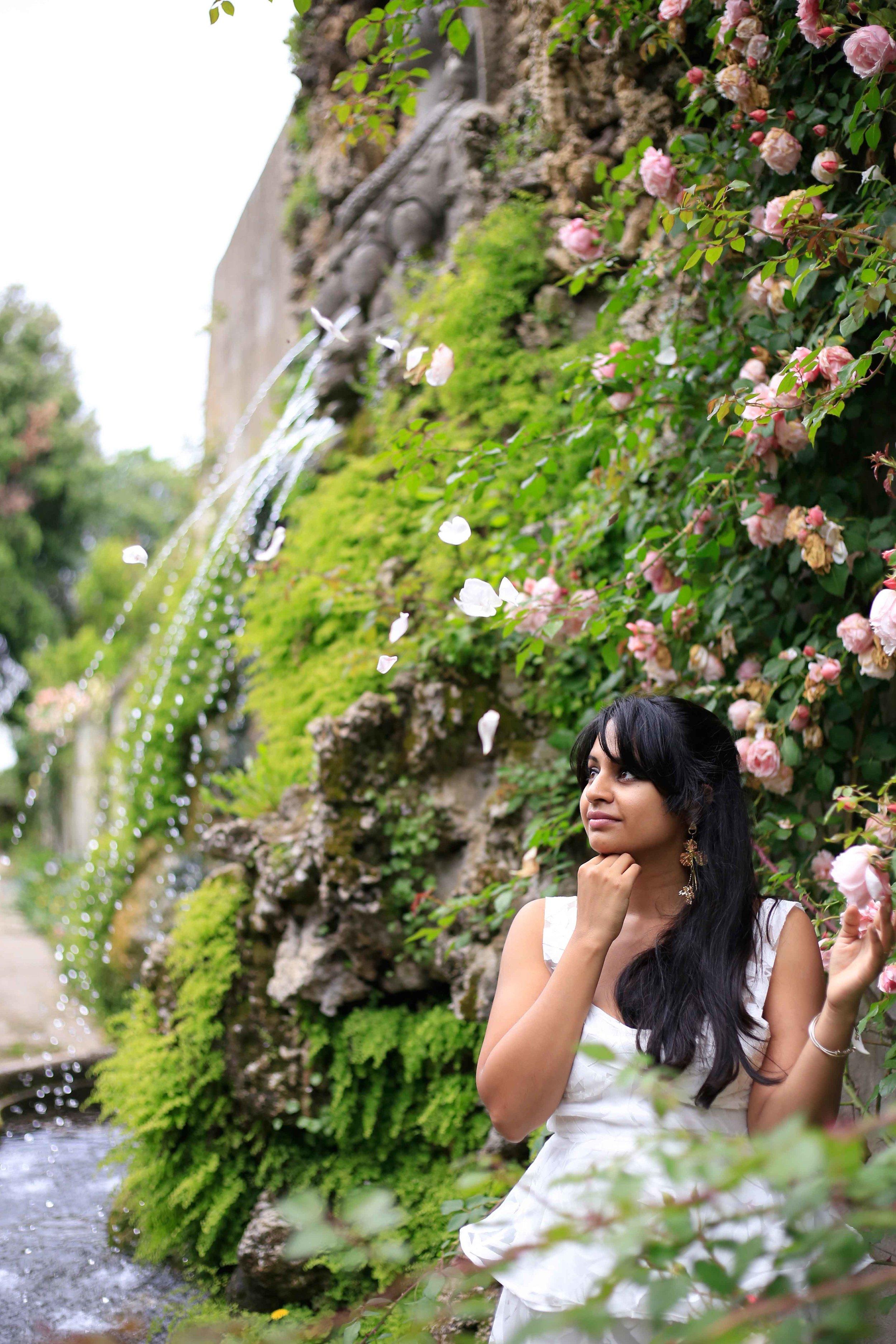 Just admiring the endless roses in Tivoli Gardens (Villa d'Este)
