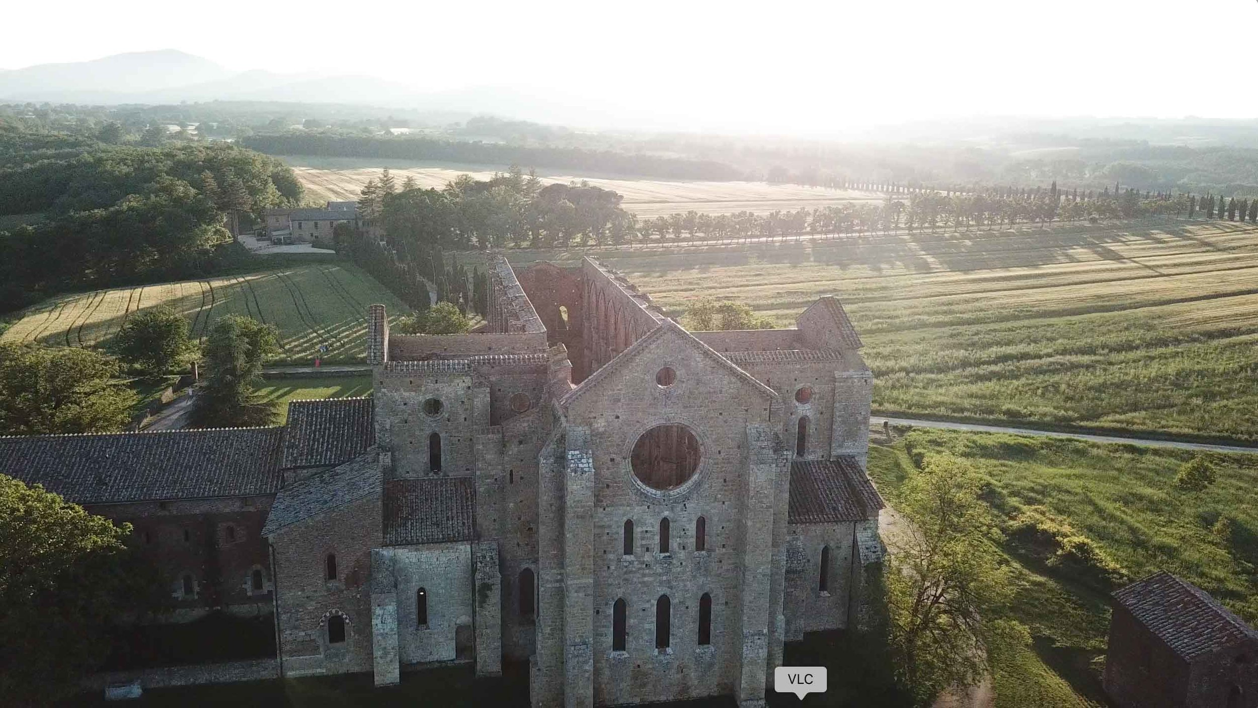 The Abbey of San Galgano from above taken with a DJI Mavic Pro.