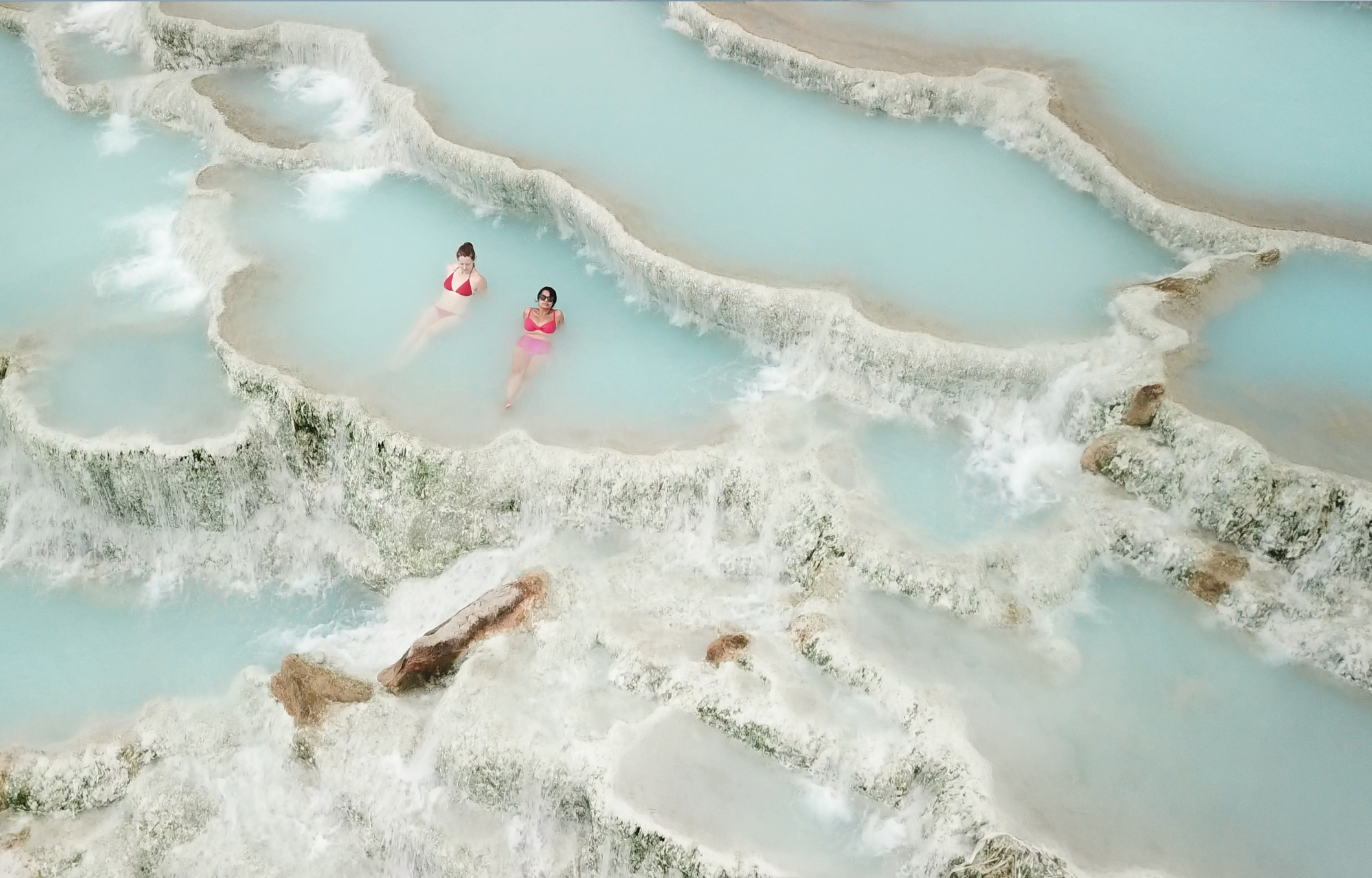 Cascate del Mulino geothermal spa in Saturnia, Tuscany.