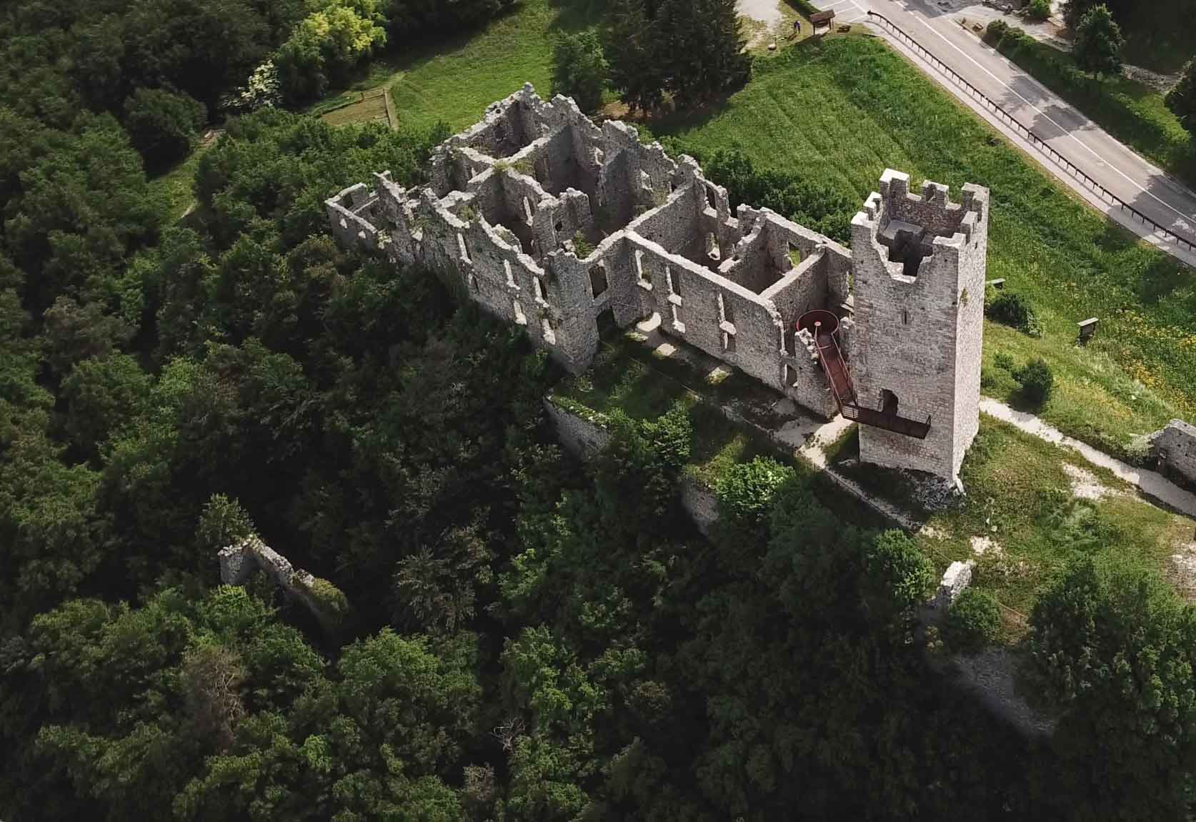 Belfort Castle from above.