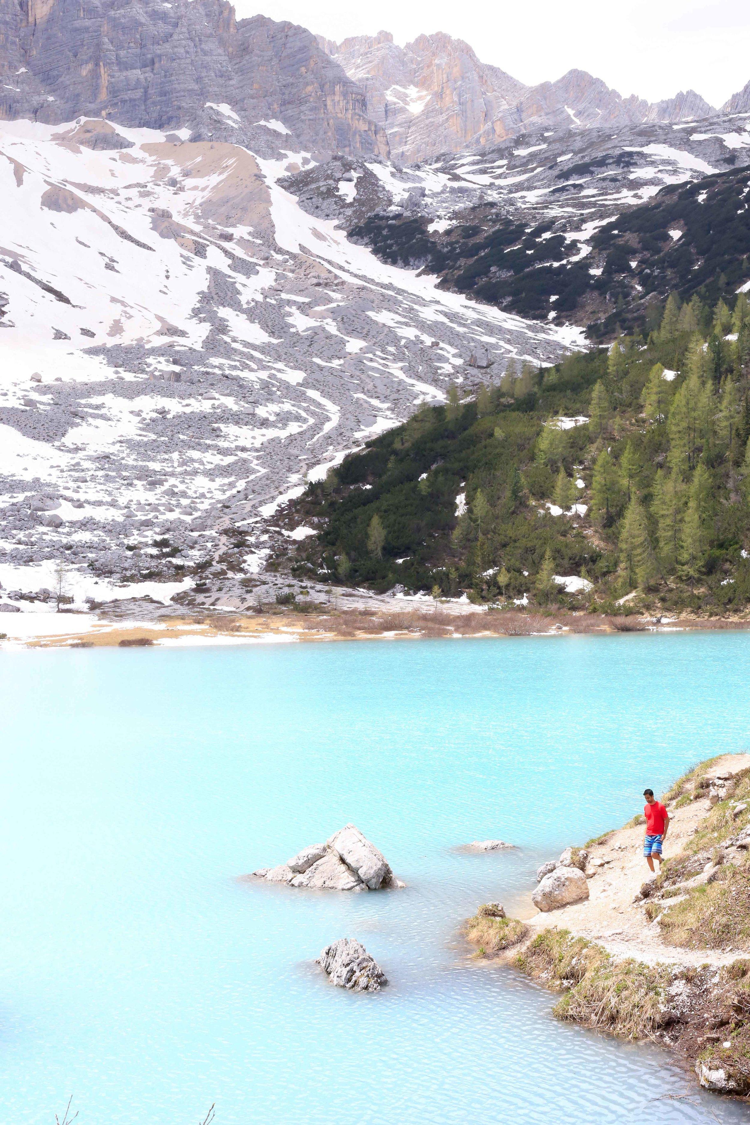 the HUBS exploring Lago di Sorapis