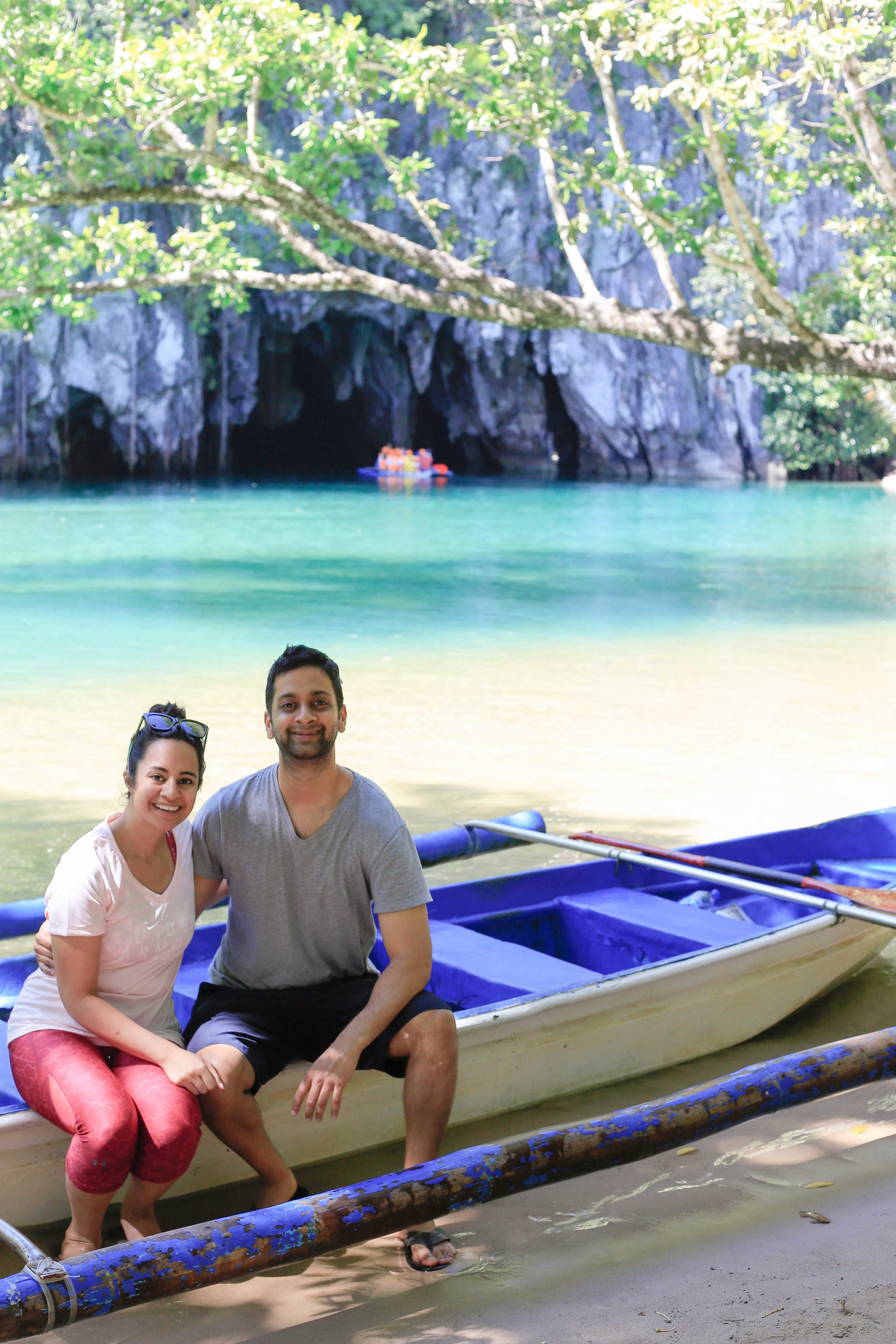Just behind us is the entrance to the underground river!