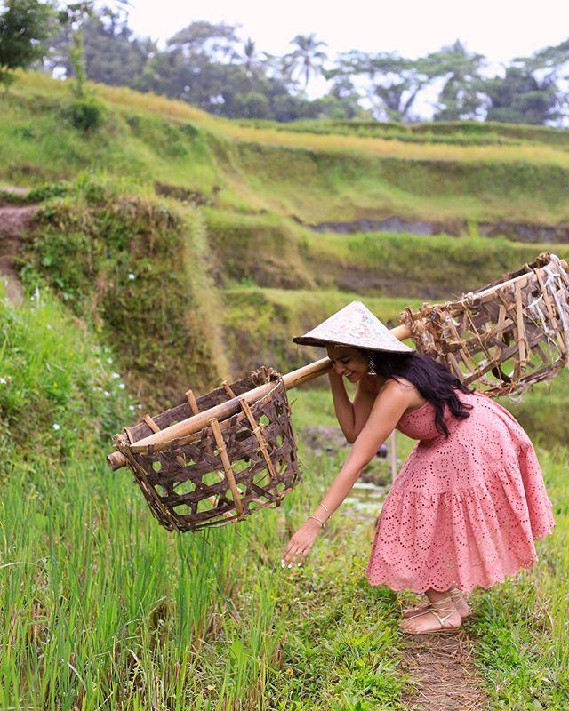 Oh you know...just harvesting some rice 😬 . . . . . #sheisnotlost #dametraveler #mytinyatlas #womenwhoexplore #womenwhotravel #wearetravelgirls #femmetravel #wanderingwomen #globelletravels #TLasia #passionpassport #thedscvrr #citizenfemme #whatiwore #girlsthatwander #wanderlust  #liveyouradventure #livetinted #thechaipress #ltkit #ootd #southeastasianfashion #TLPicks #LR_Horizons #Bali #browngirlmag