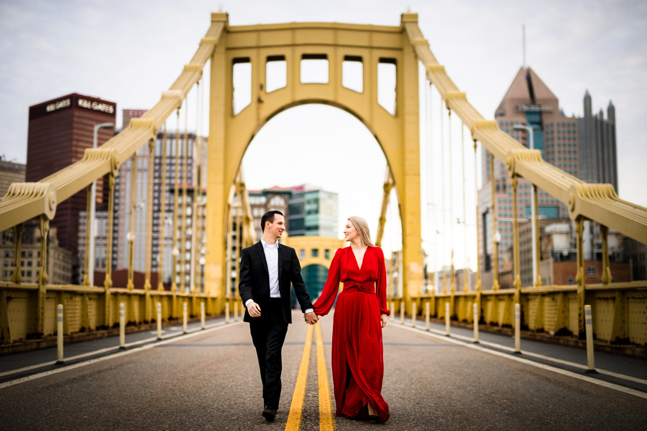 Pittsburgh Engagement Pictures Clemente Bridge-1.jpg