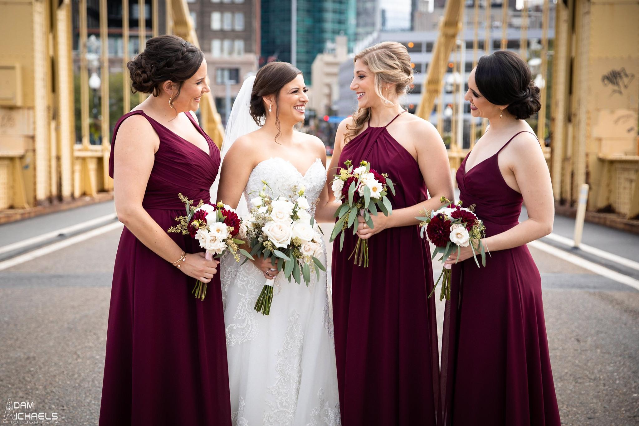 Pittsburgh Clemente Bridge Wedding Bridal Portraits _2597.jpg